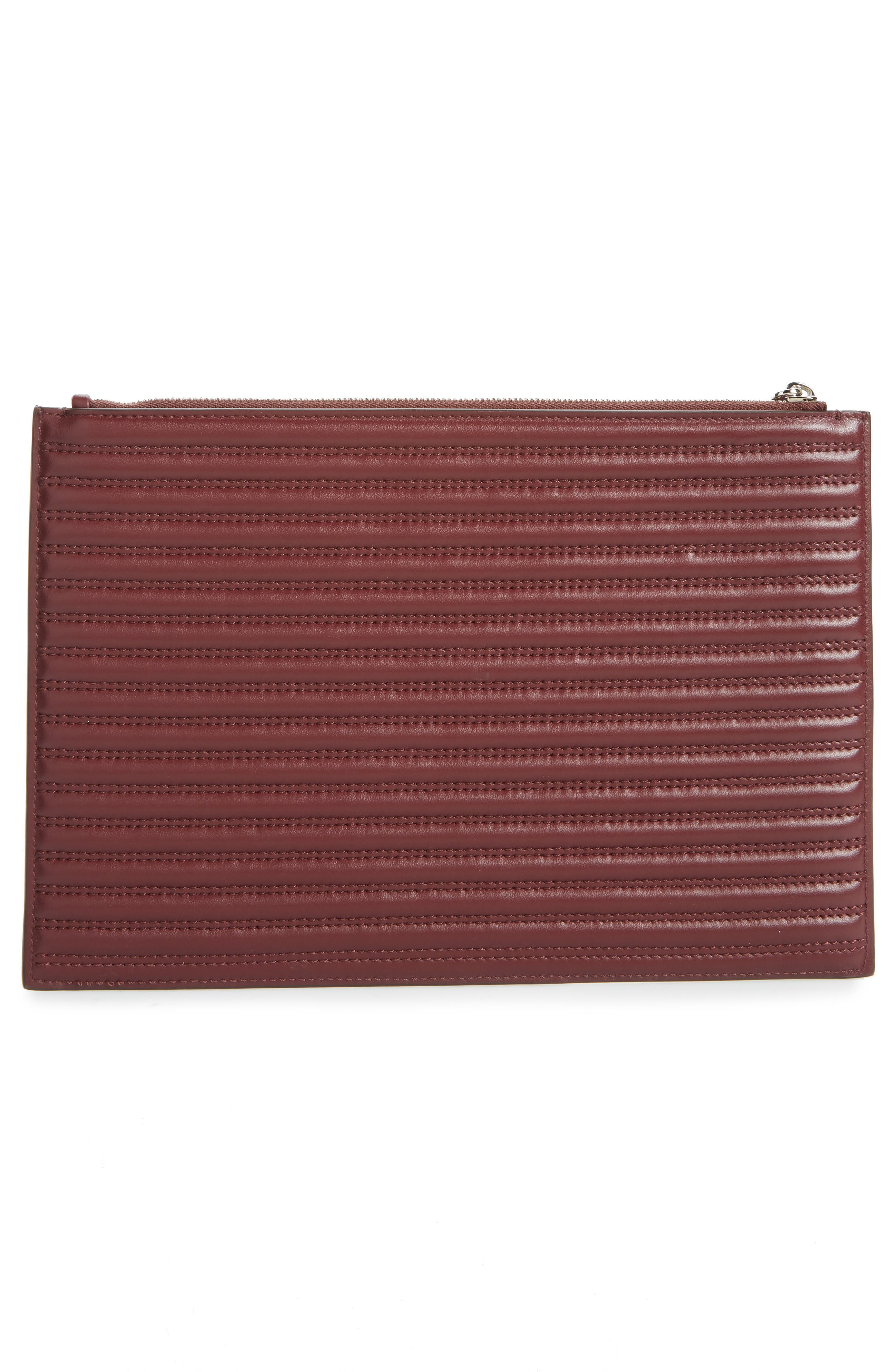 Antigona Quilted Leather Pouch,                             Alternate thumbnail 3, color,                             642