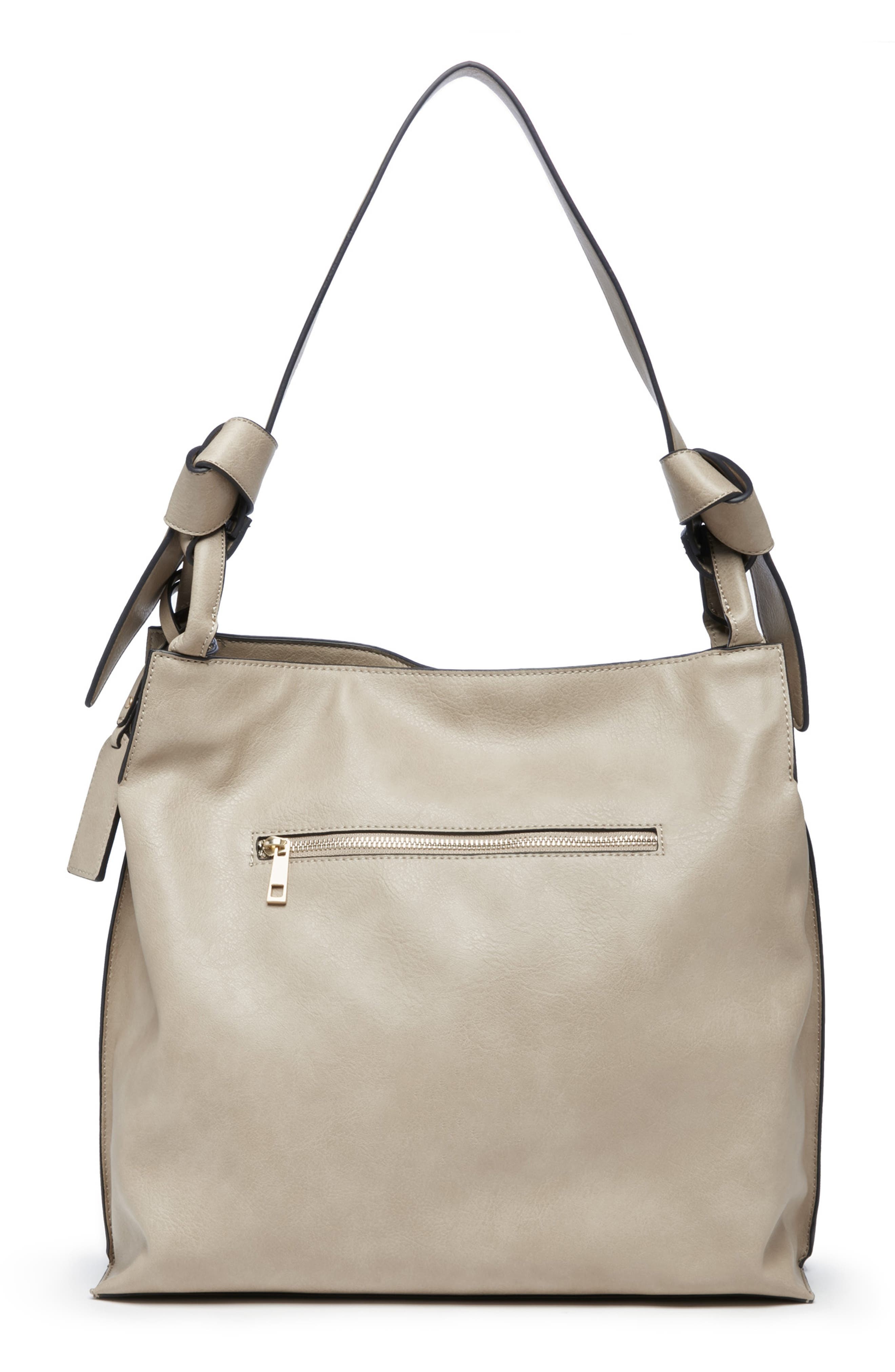 Josah Faux Leather Shoulder Bag,                             Alternate thumbnail 9, color,                             SAFARI