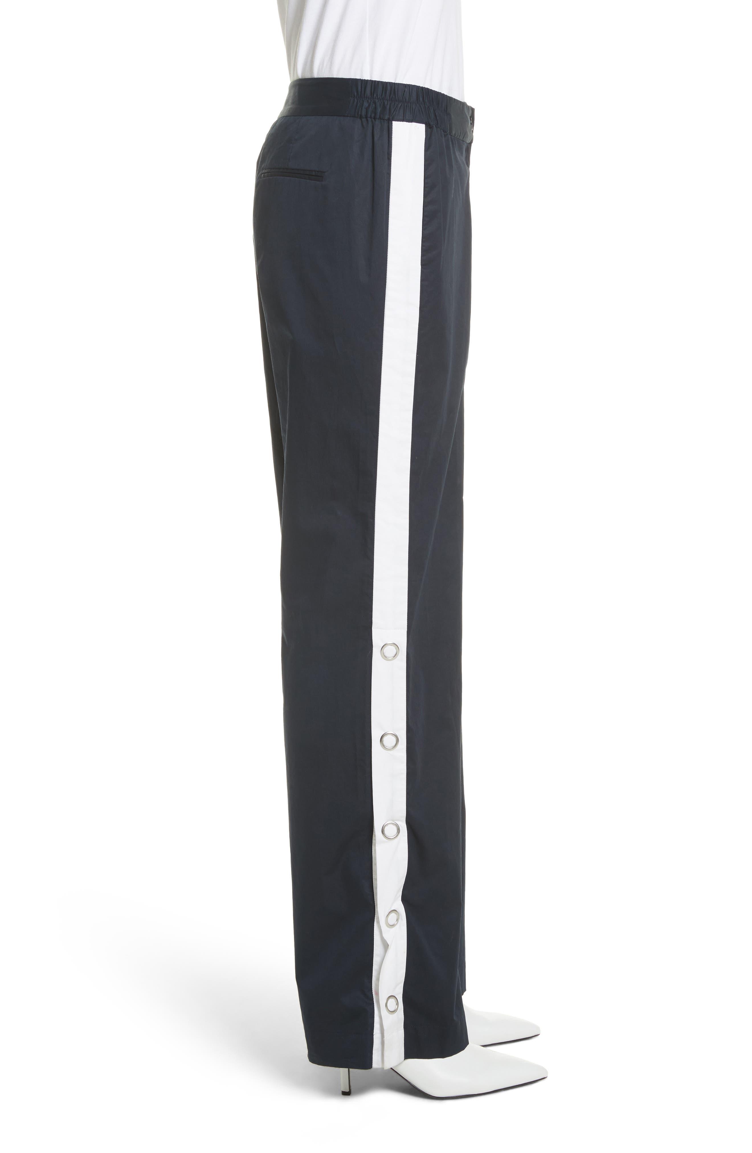 Arwen Wide Leg Cotton Pants,                             Alternate thumbnail 3, color,                             005