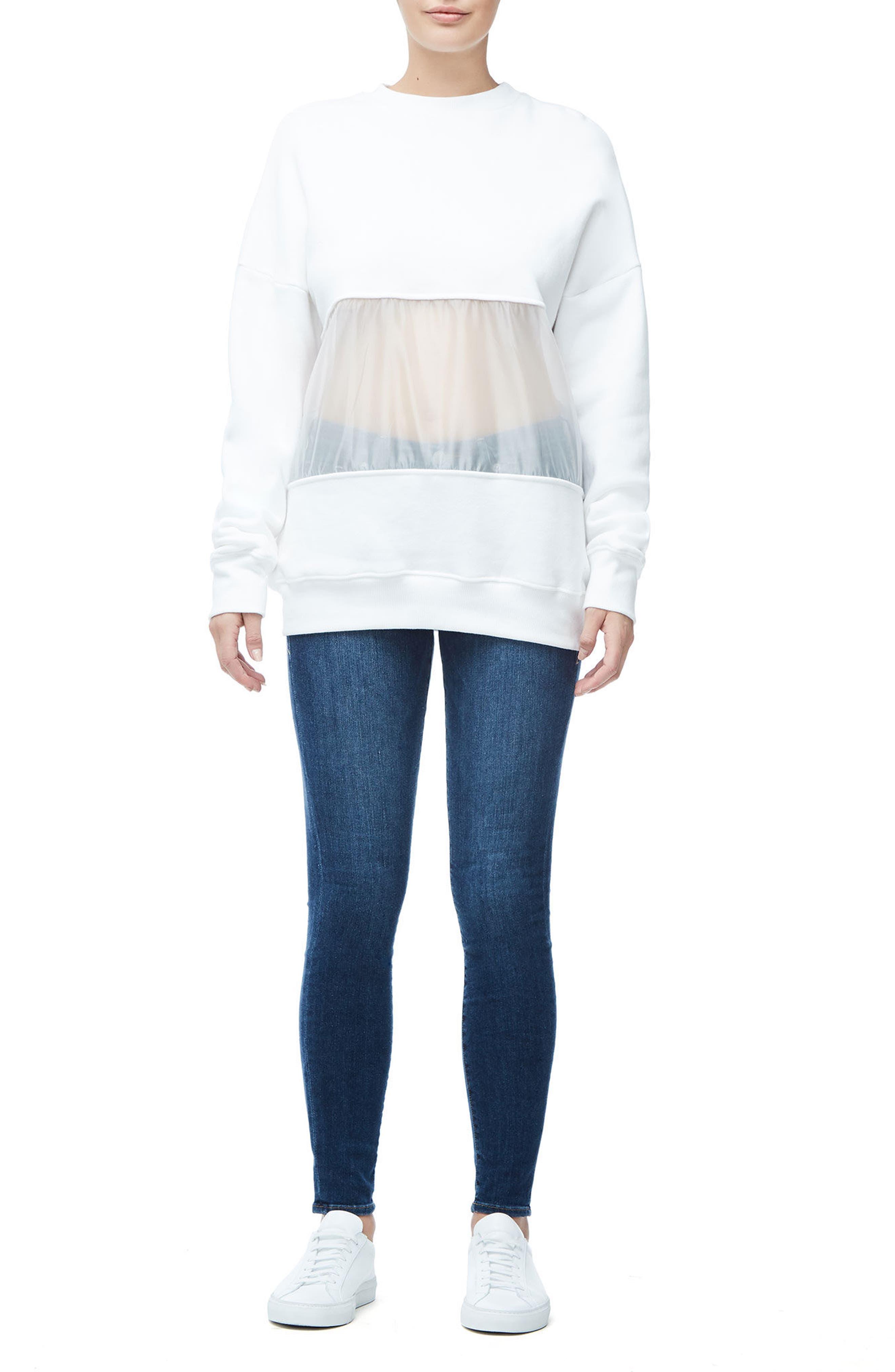 Mixed Media Oversize Sweatshirt,                             Alternate thumbnail 12, color,