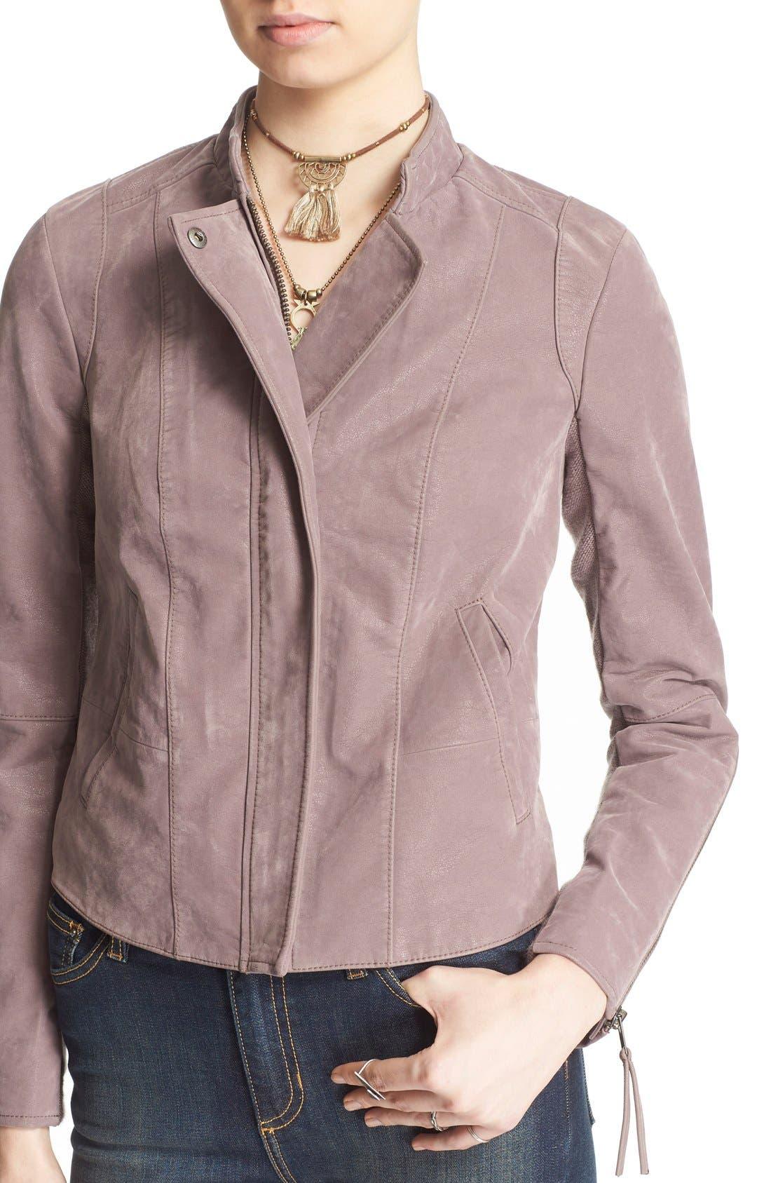 Faux Leather Jacket,                             Alternate thumbnail 29, color,