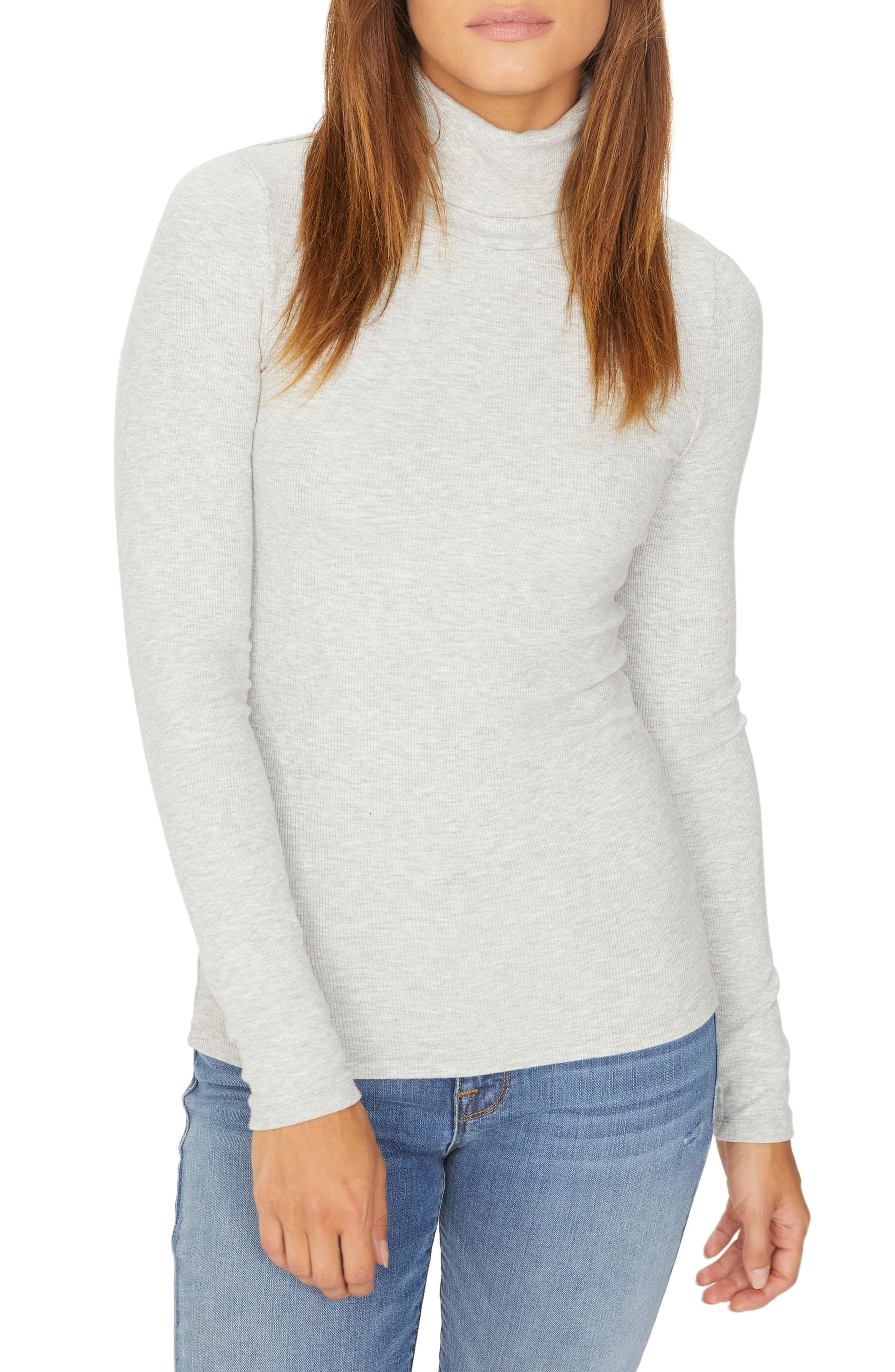 Essentials Turtleneck,                             Main thumbnail 1, color,                             HEATHER STERLING