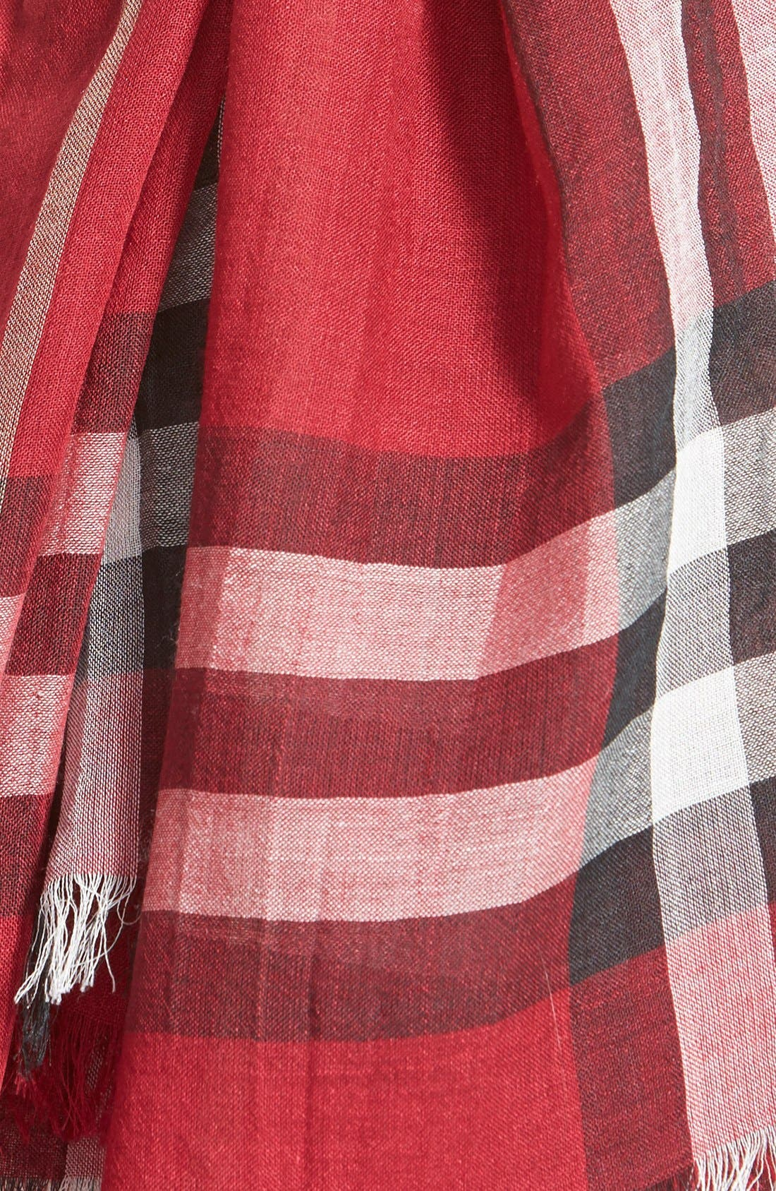 Giant Check Print Wool & Silk Scarf,                             Alternate thumbnail 160, color,