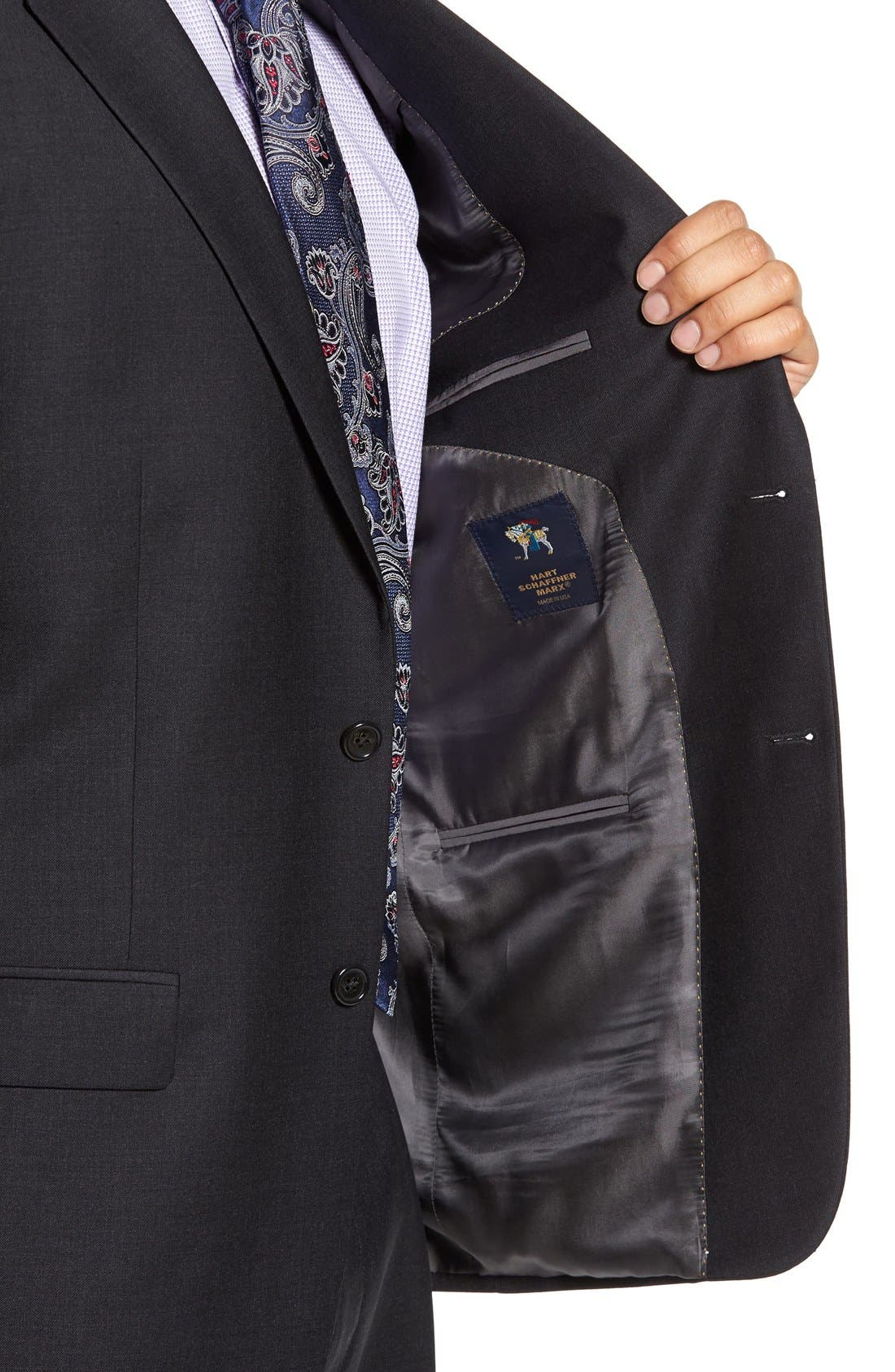 Chicago Classic Fit Solid Wool Suit,                             Alternate thumbnail 7, color,                             010