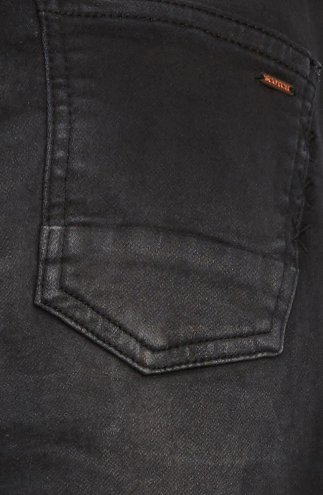 Slim Pull-On Pants,                             Alternate thumbnail 3, color,                             001