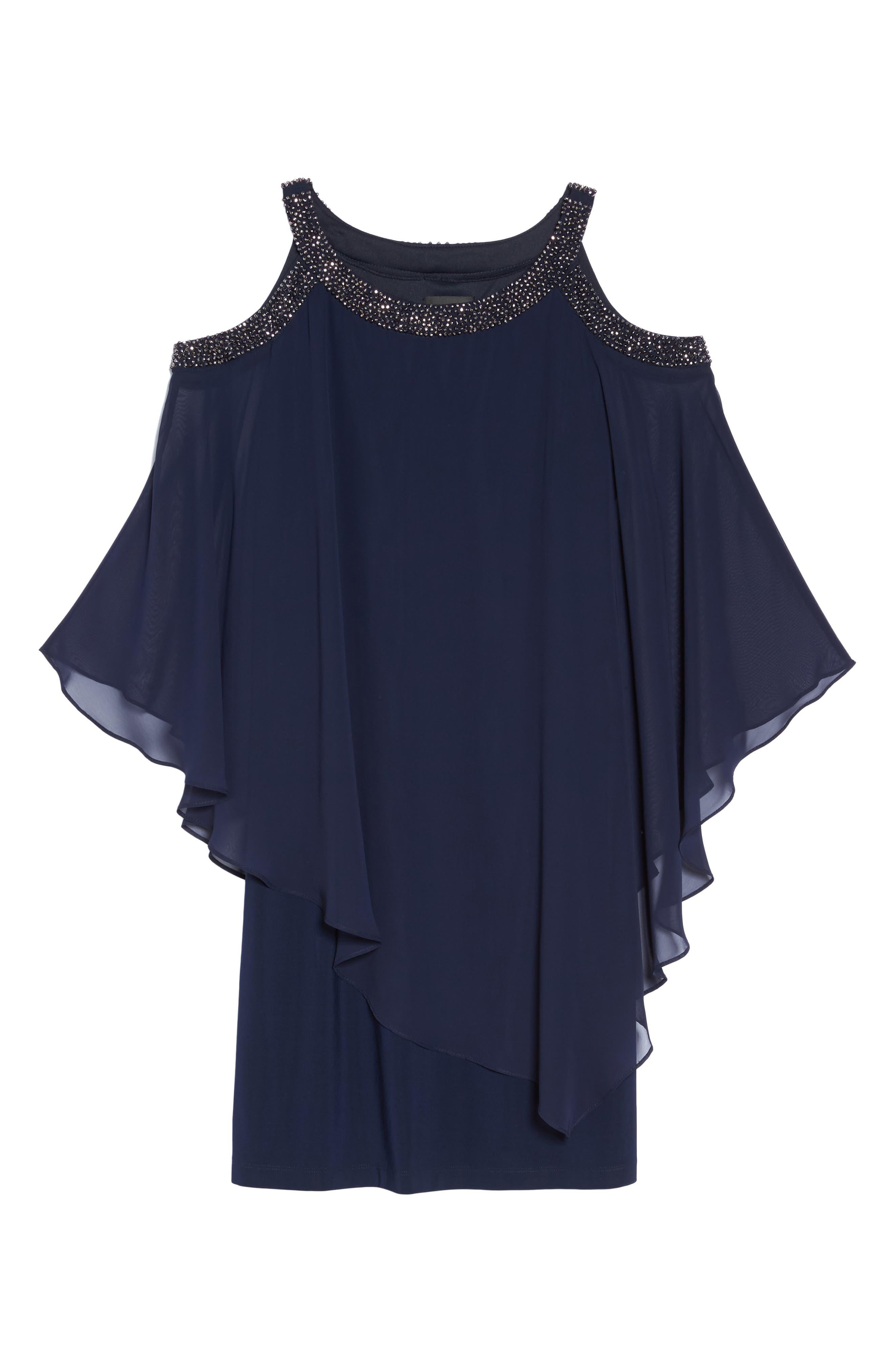 Chiffon Overlay Dress,                             Alternate thumbnail 6, color,                             498