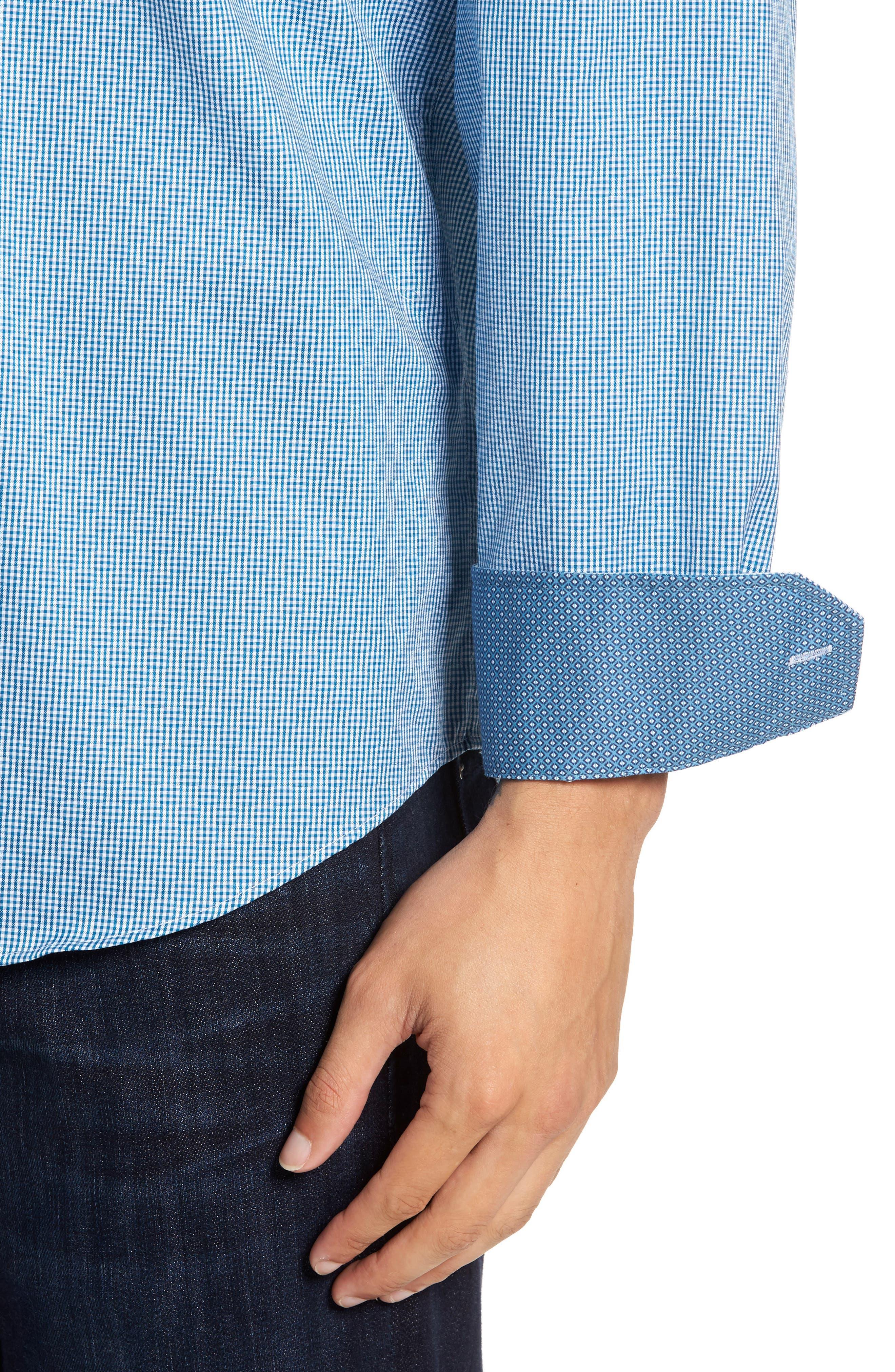 Classic Fit Check Sport Shirt,                             Alternate thumbnail 4, color,                             445
