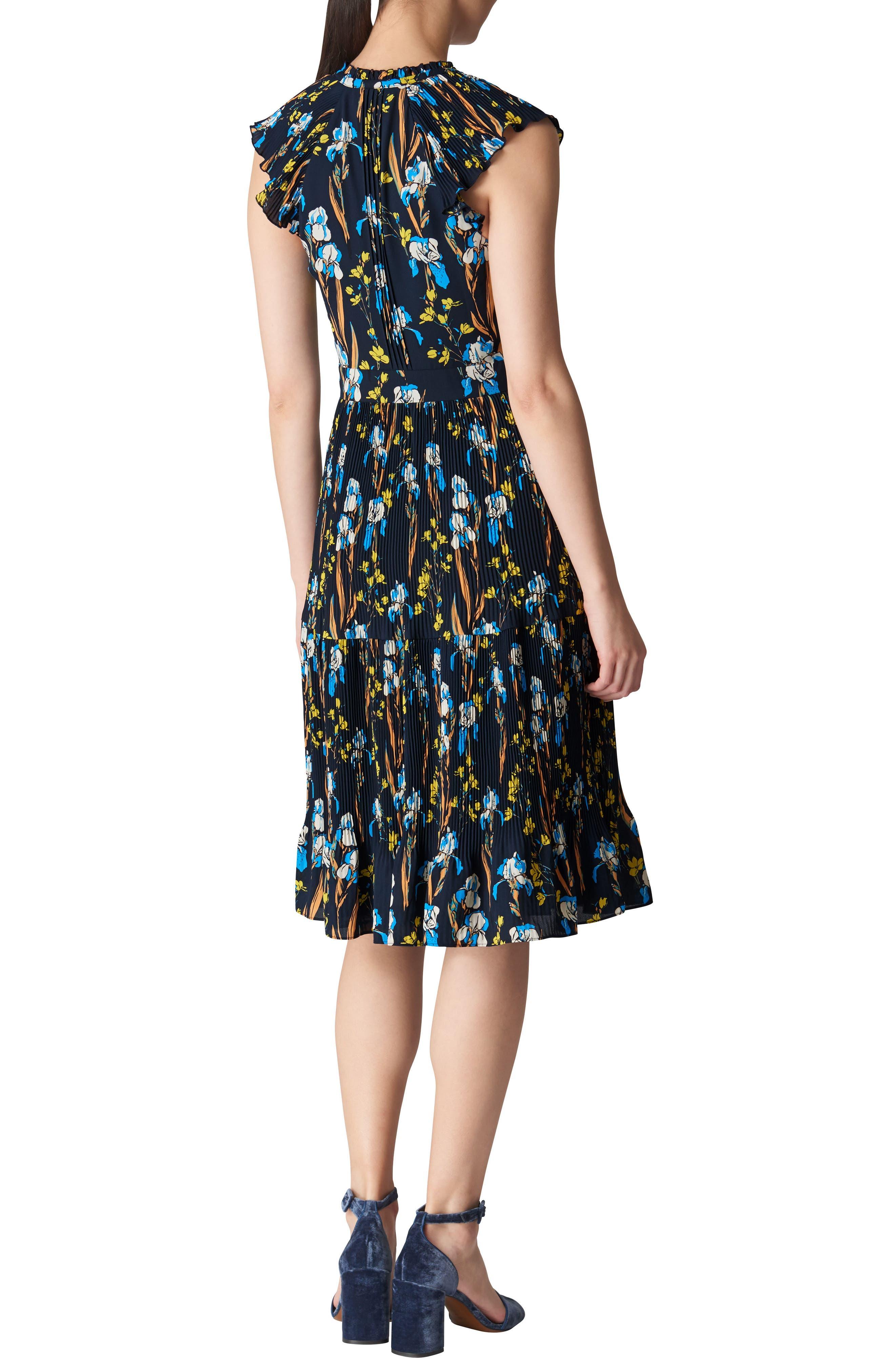 Celia Iris Pleat Dress,                             Alternate thumbnail 2, color,                             400