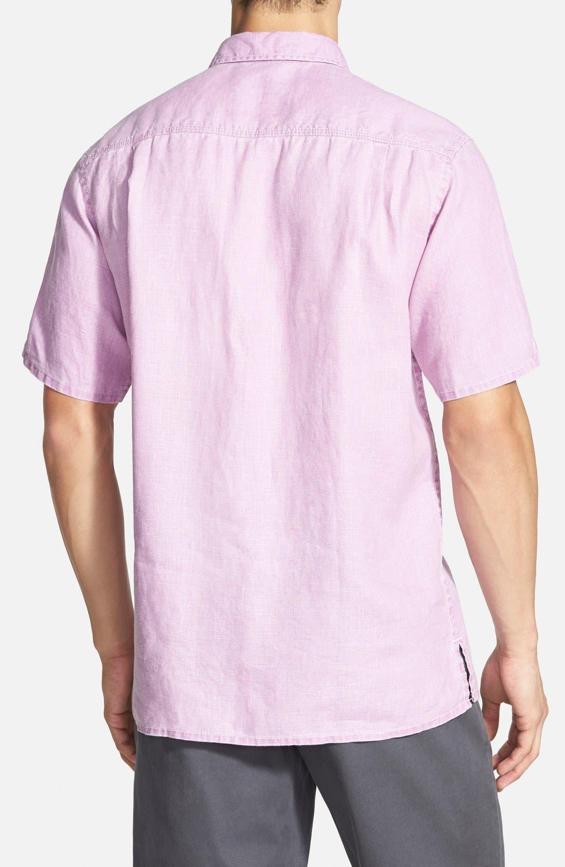 Seaglass Breezer Short Sleeve Linen Sport Shirt,                             Alternate thumbnail 35, color,