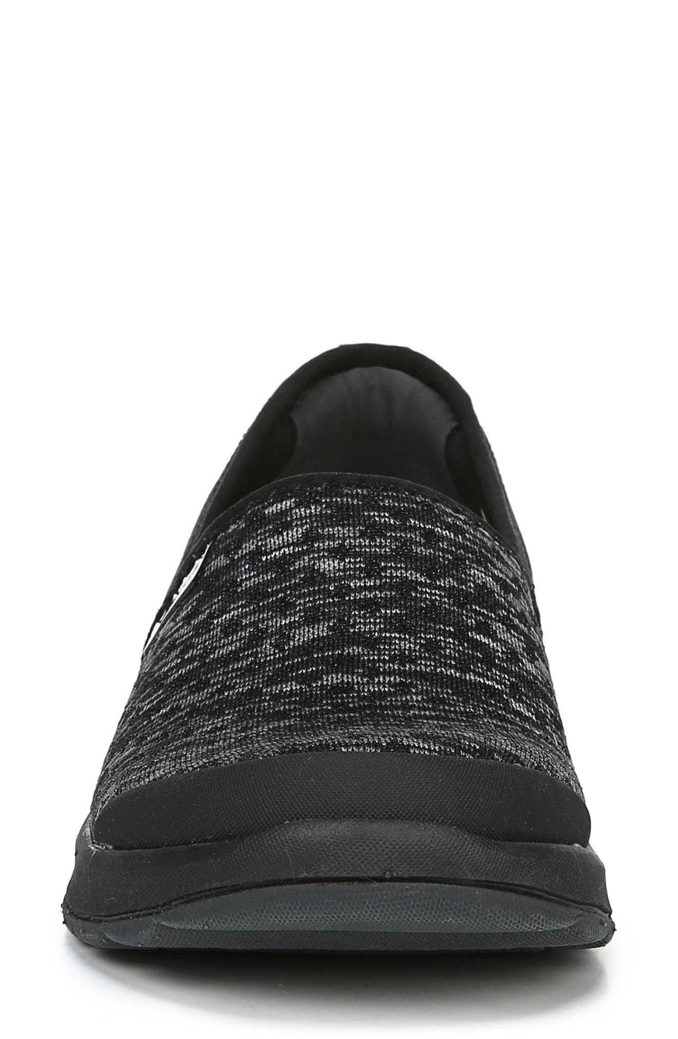 BZEES,                             Glee Slip-On Sneaker,                             Alternate thumbnail 4, color,                             BLACK DOT HEATHER FABRIC