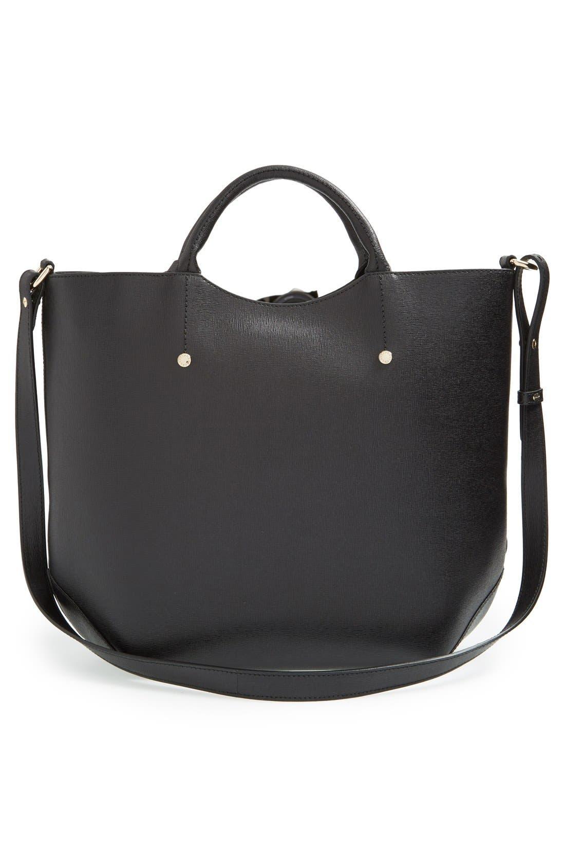 'Alissa - Large' Saffiano Leather Tote,                             Alternate thumbnail 2, color,                             001