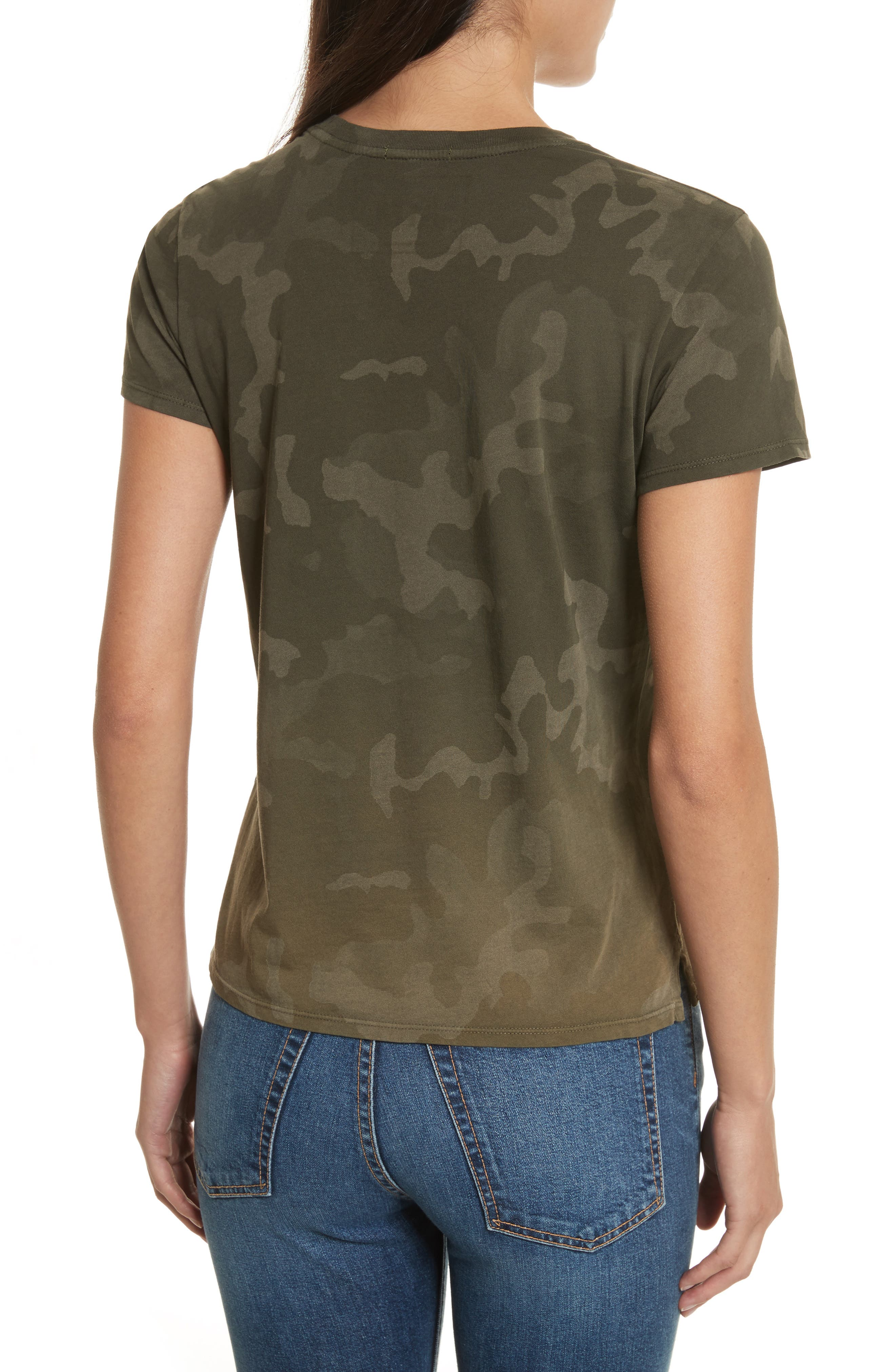Camouflage Print Cotton Tee,                             Alternate thumbnail 2, color,                             341