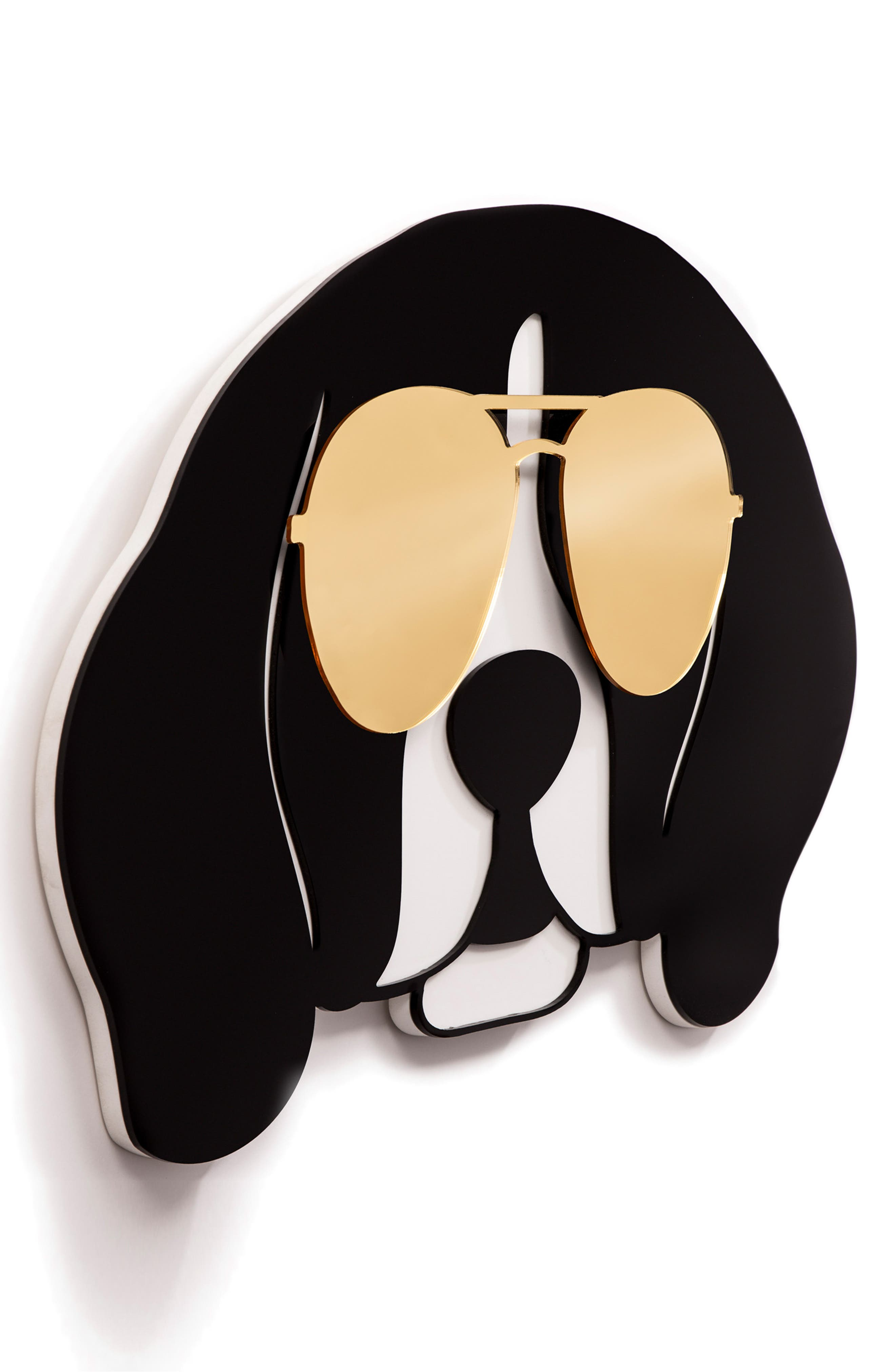 Cool Beagle Wall Art,                             Alternate thumbnail 2, color,                             GOLD BLACK AND WHITE
