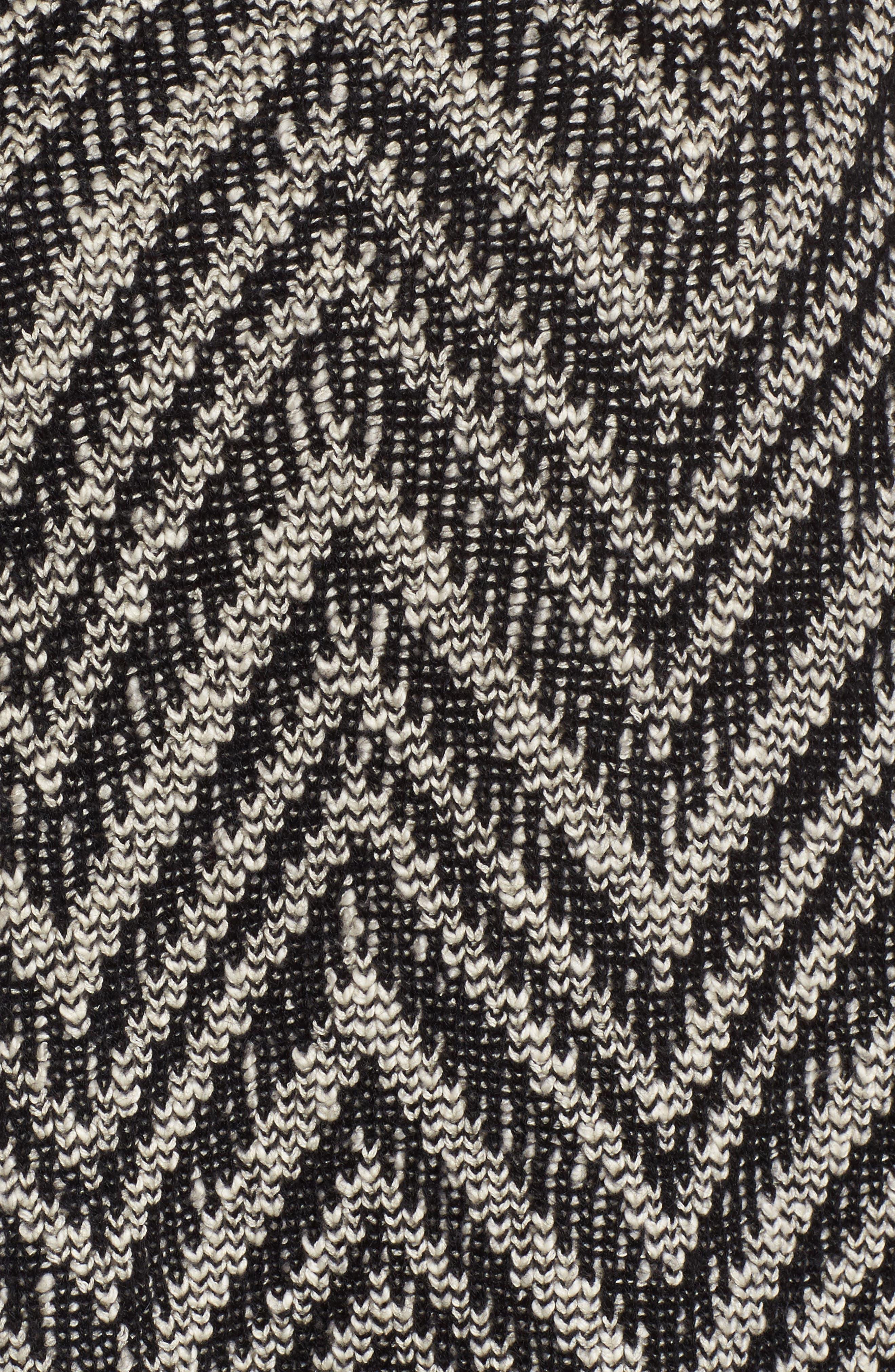 Zigzag Organic Cotton & Alpaca Tunic Sweater,                             Alternate thumbnail 5, color,                             112