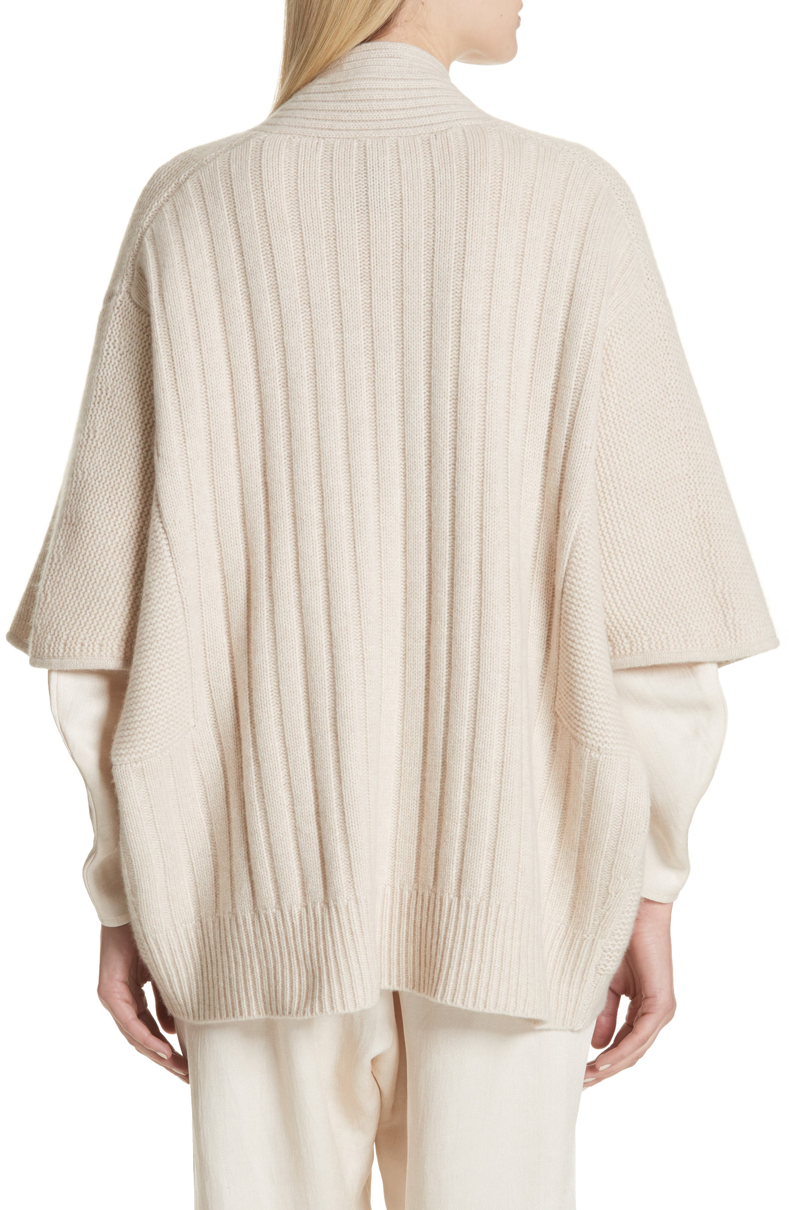 Cashmere & Merino Wool Cardigan,                             Alternate thumbnail 2, color,