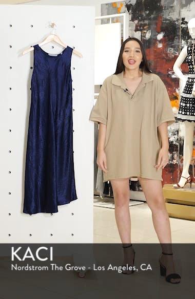 Asymmetrical Crinkled Satin Dress, sales video thumbnail