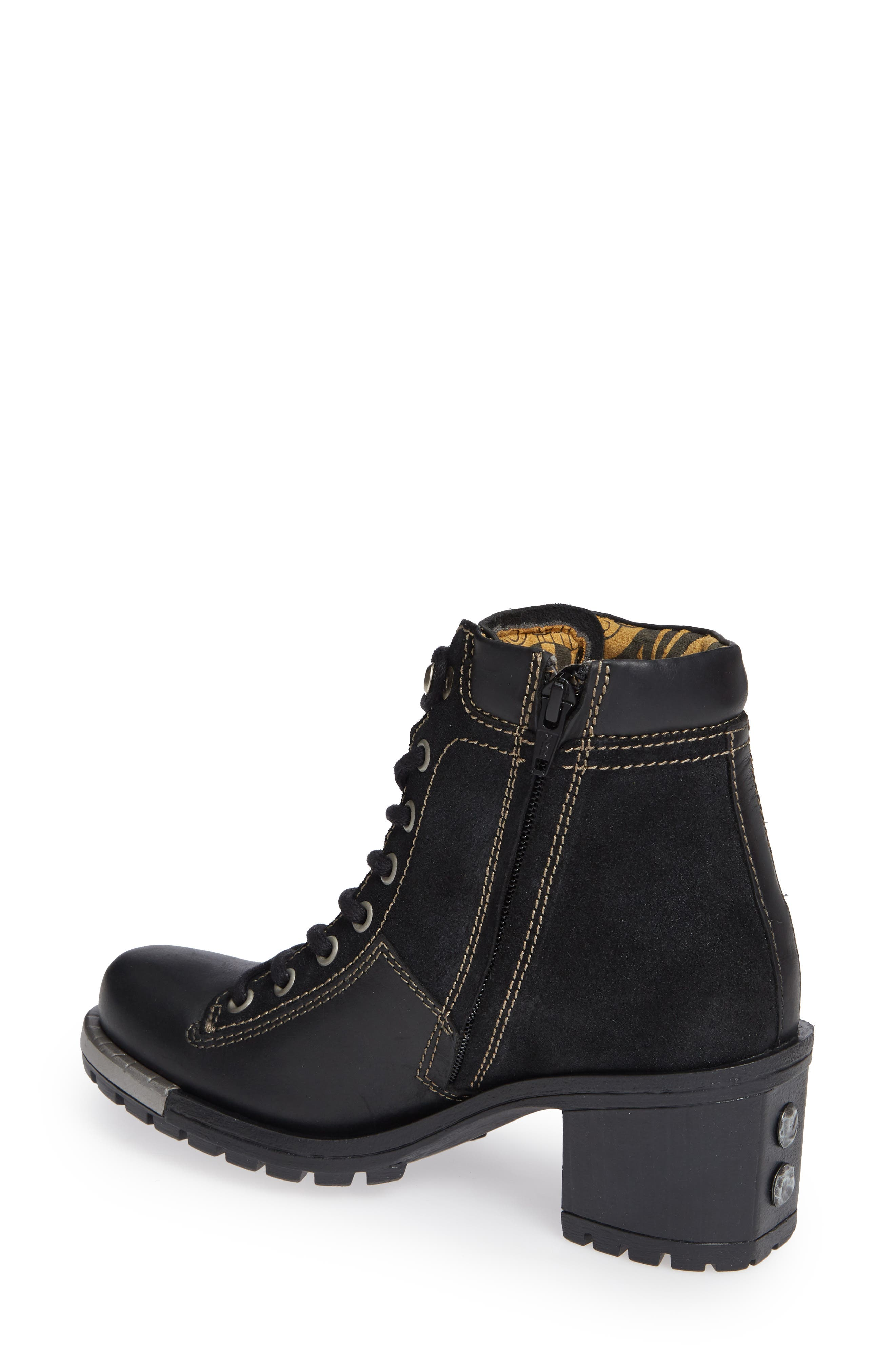 'Leal' Boot,                             Alternate thumbnail 2, color,                             BLACK/ ANTHRACITE