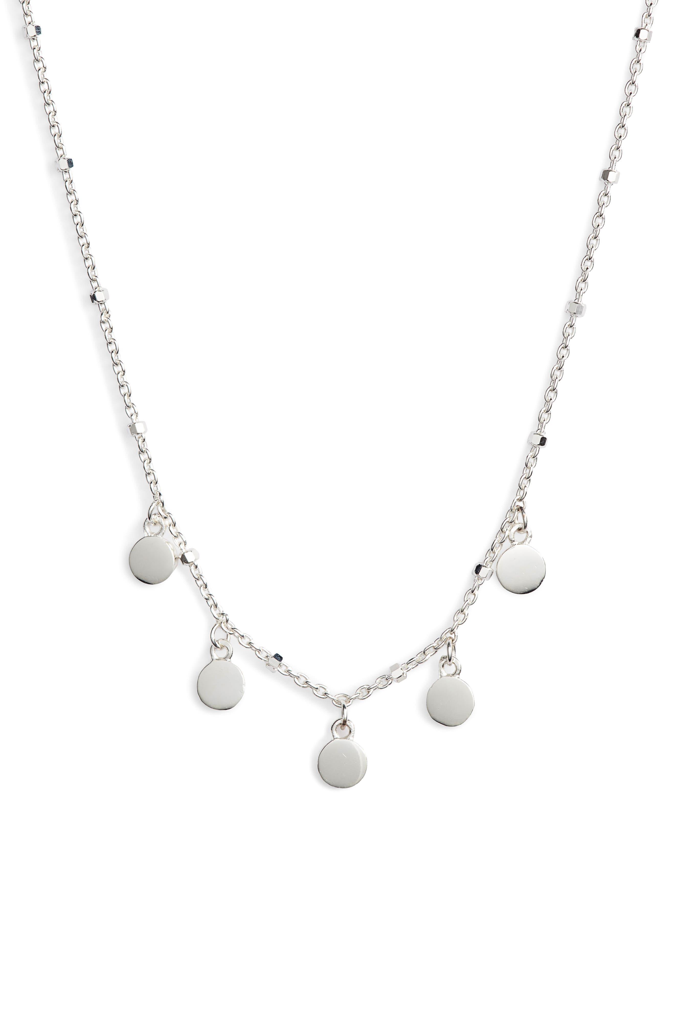 Mirror Charm Short Necklace,                             Main thumbnail 1, color,                             040