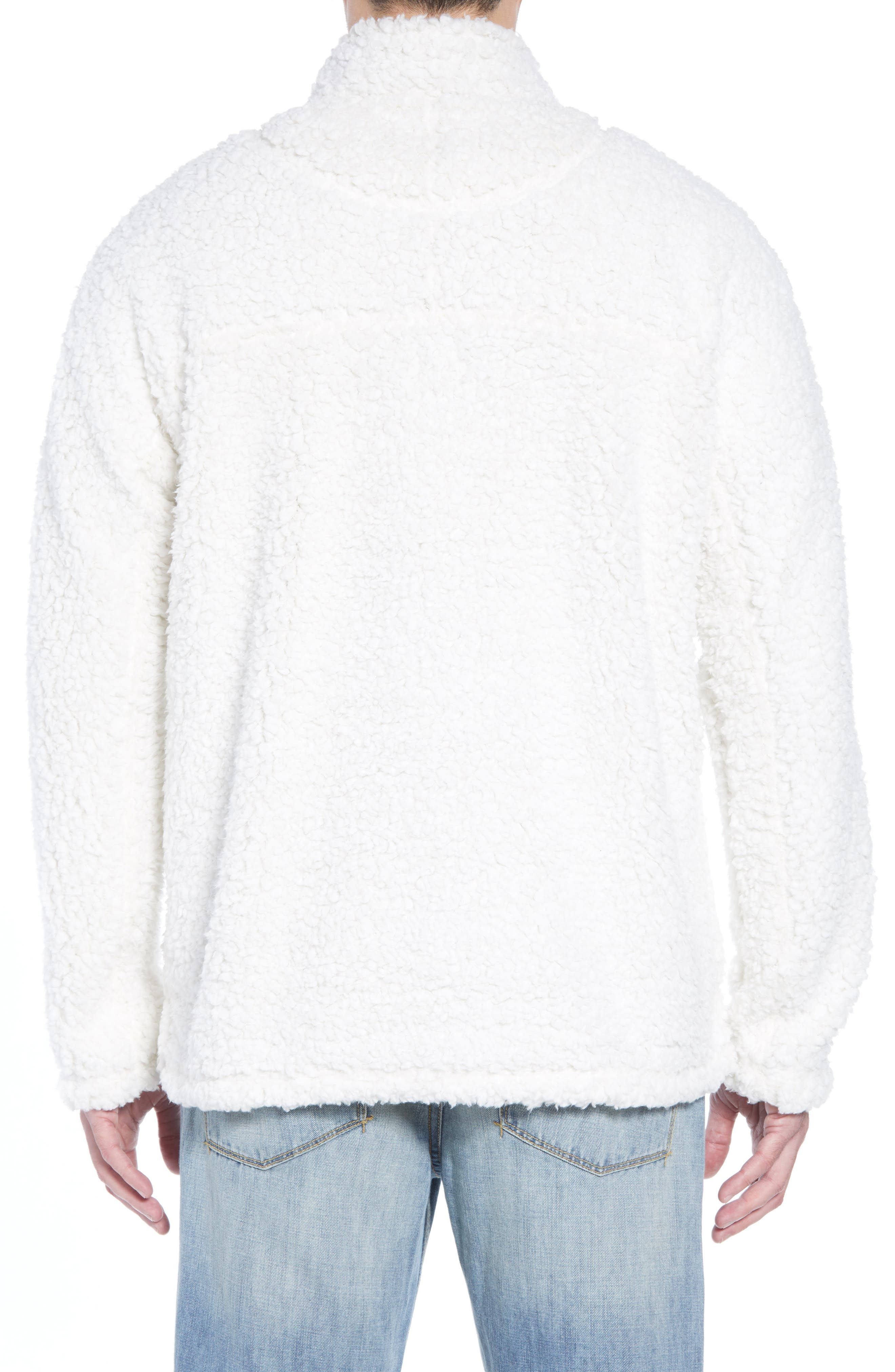 Frosty Tipped Quarter Zip Pullover,                             Alternate thumbnail 2, color,                             IVORY
