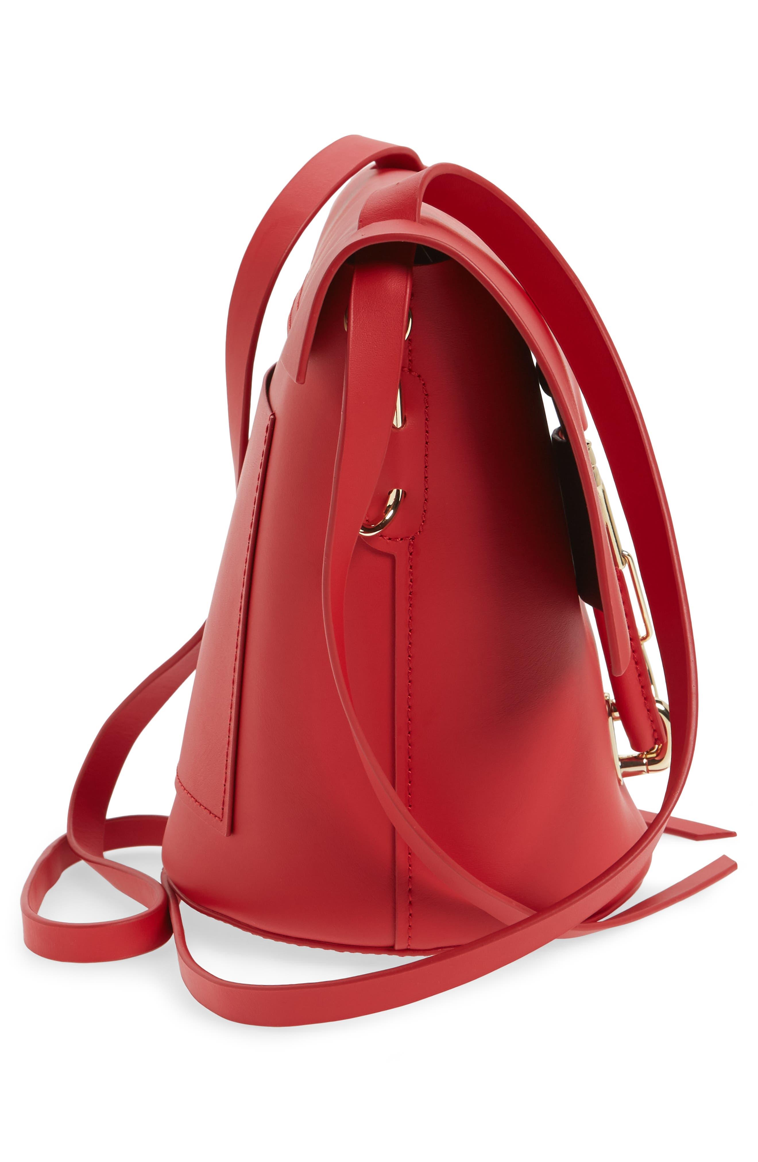 Belay Leather Crossbody Bucket Bag,                             Alternate thumbnail 5, color,                             620