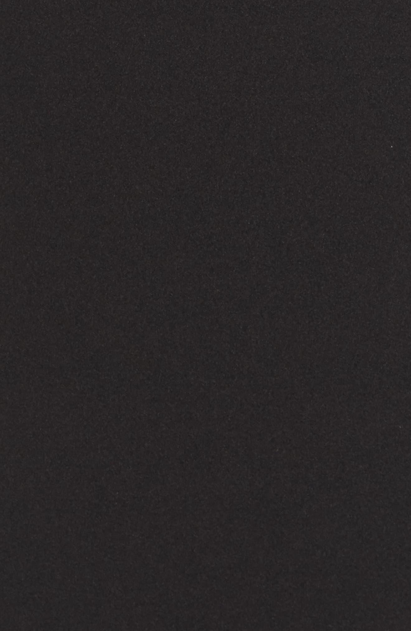 Titan One-Shoulder Cutout Crepe Gown,                             Alternate thumbnail 5, color,                             BLACK