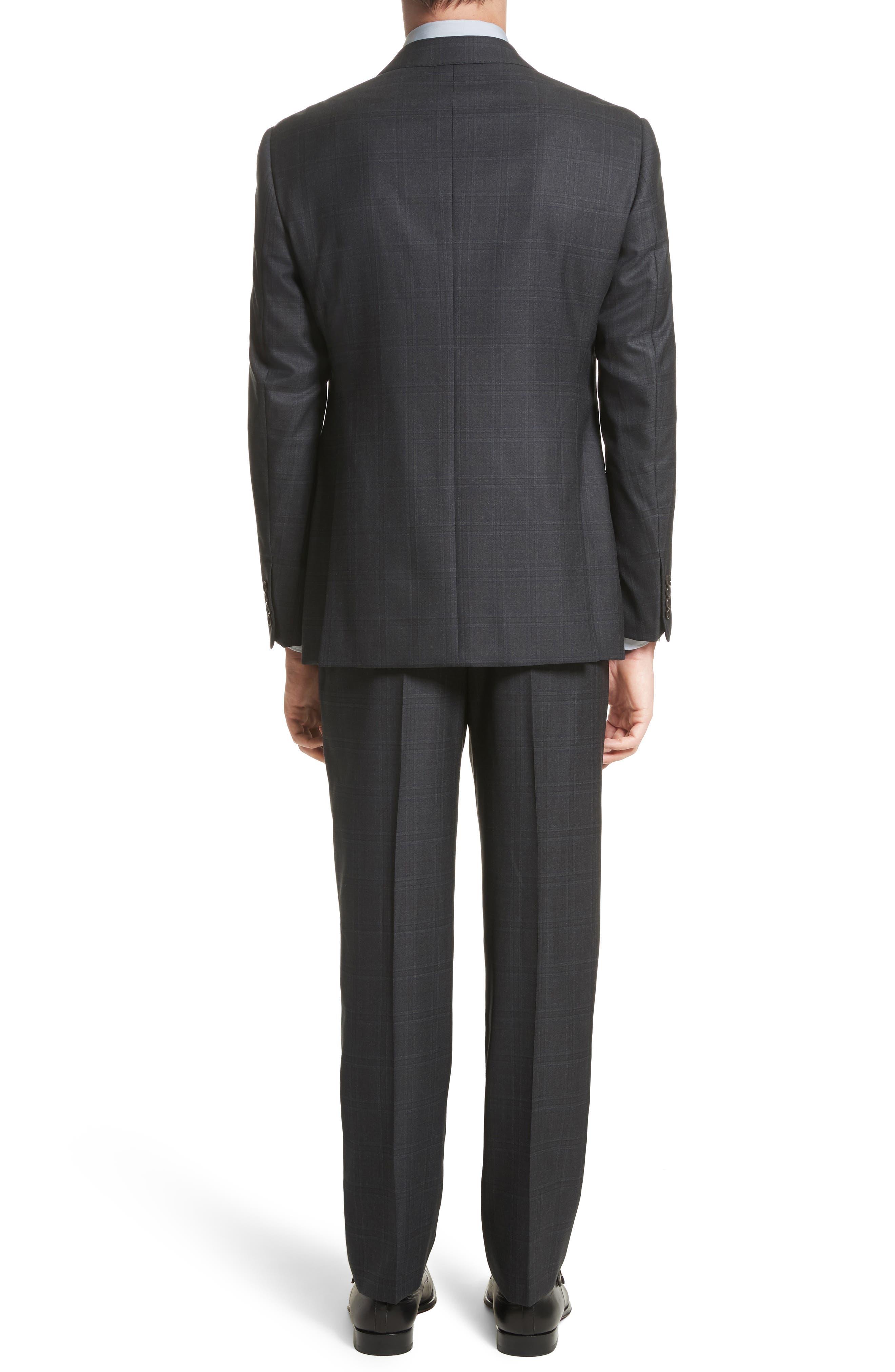 G-Line Trim Fit Plaid Wool Suit,                             Alternate thumbnail 2, color,                             017