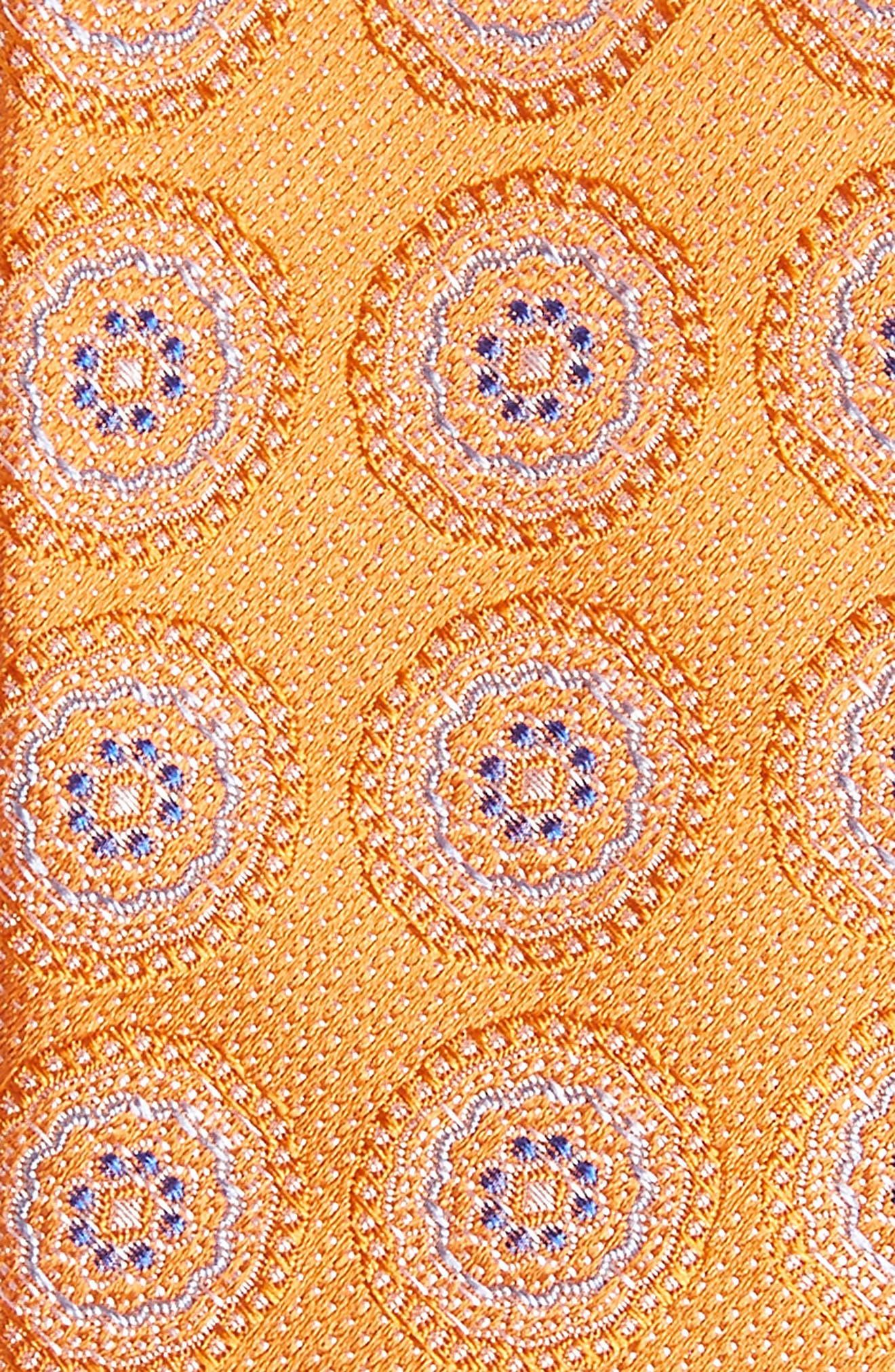 Pinpoint Medallion Silk Tie,                             Alternate thumbnail 12, color,