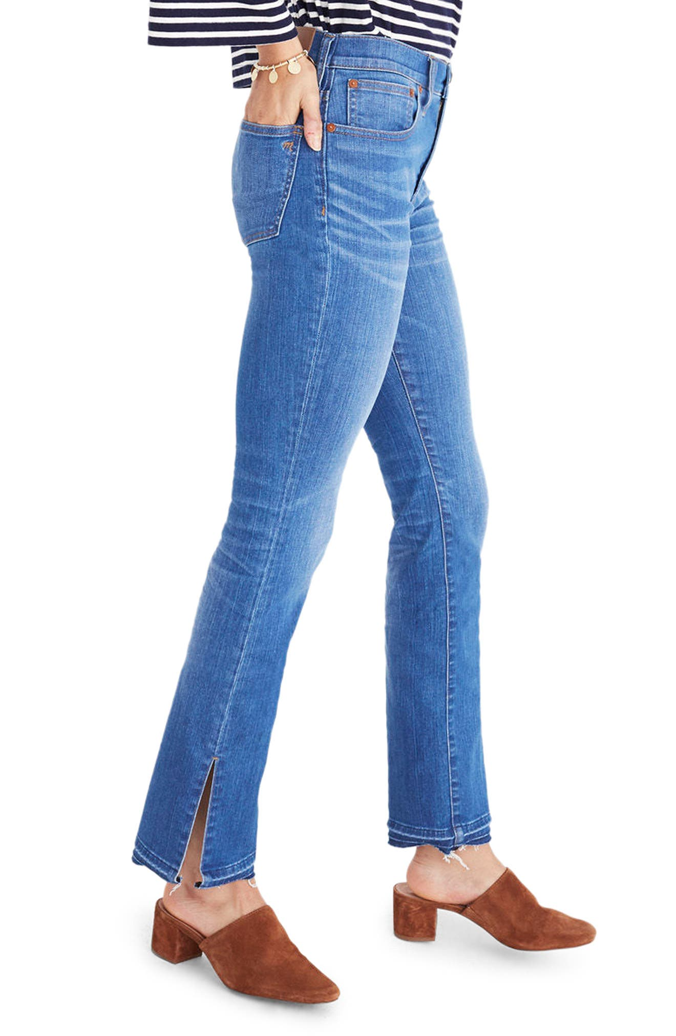 MADEWELL,                             Cali Split Hem Demi Boot Jeans,                             Alternate thumbnail 4, color,                             421