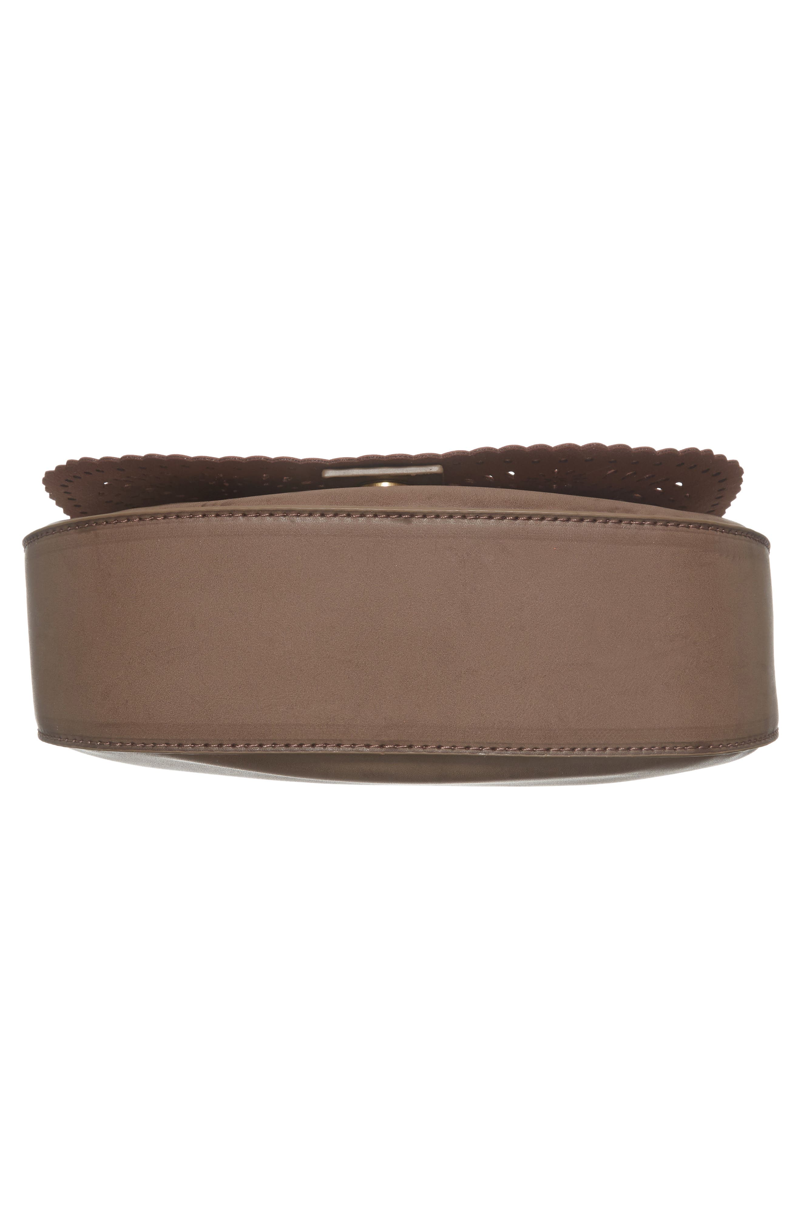 Dakota Faux Leather Saddle Bag,                             Alternate thumbnail 6, color,                             022