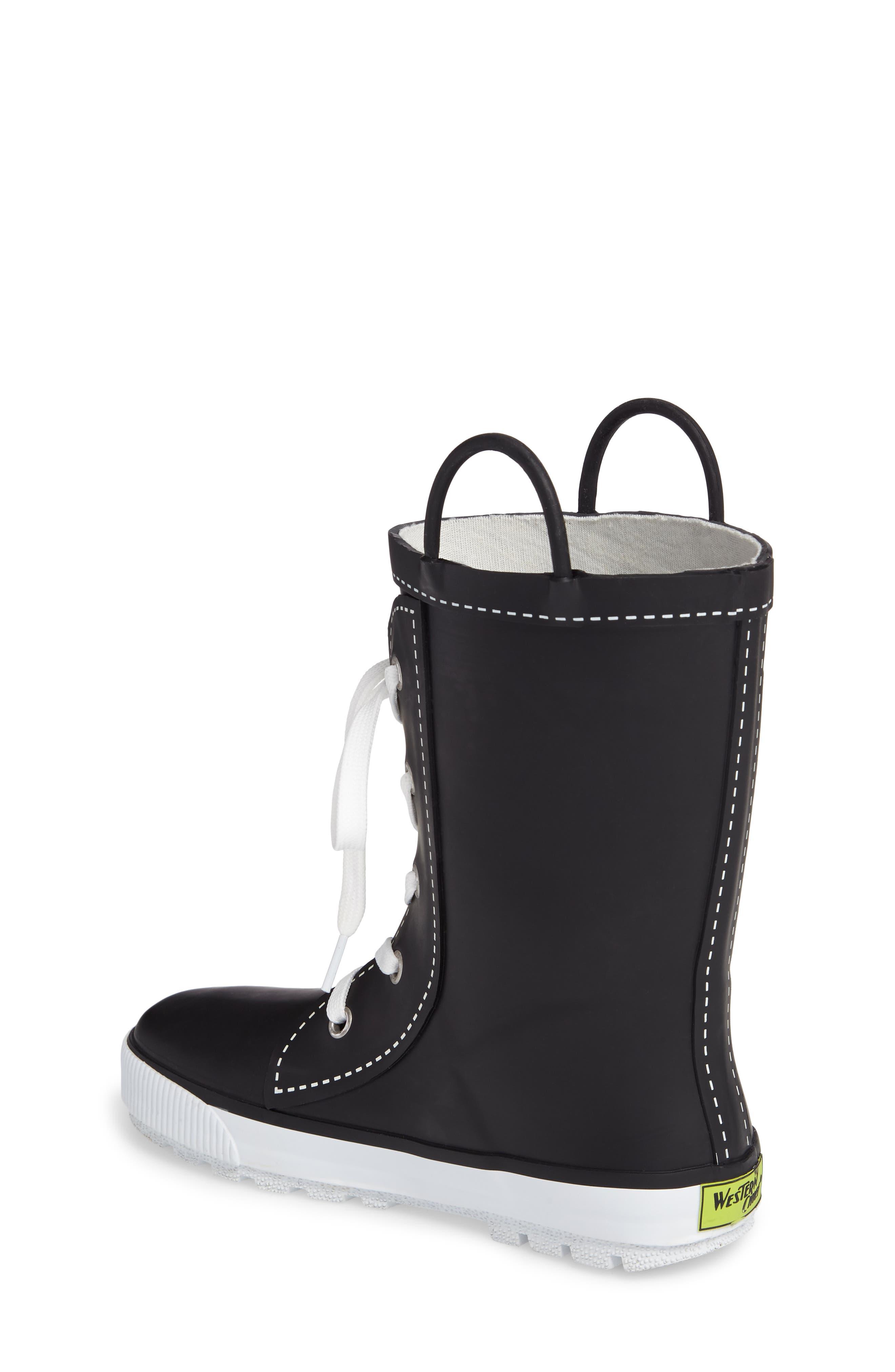 Waterproof Sneaker Rain Boot,                             Alternate thumbnail 2, color,                             001
