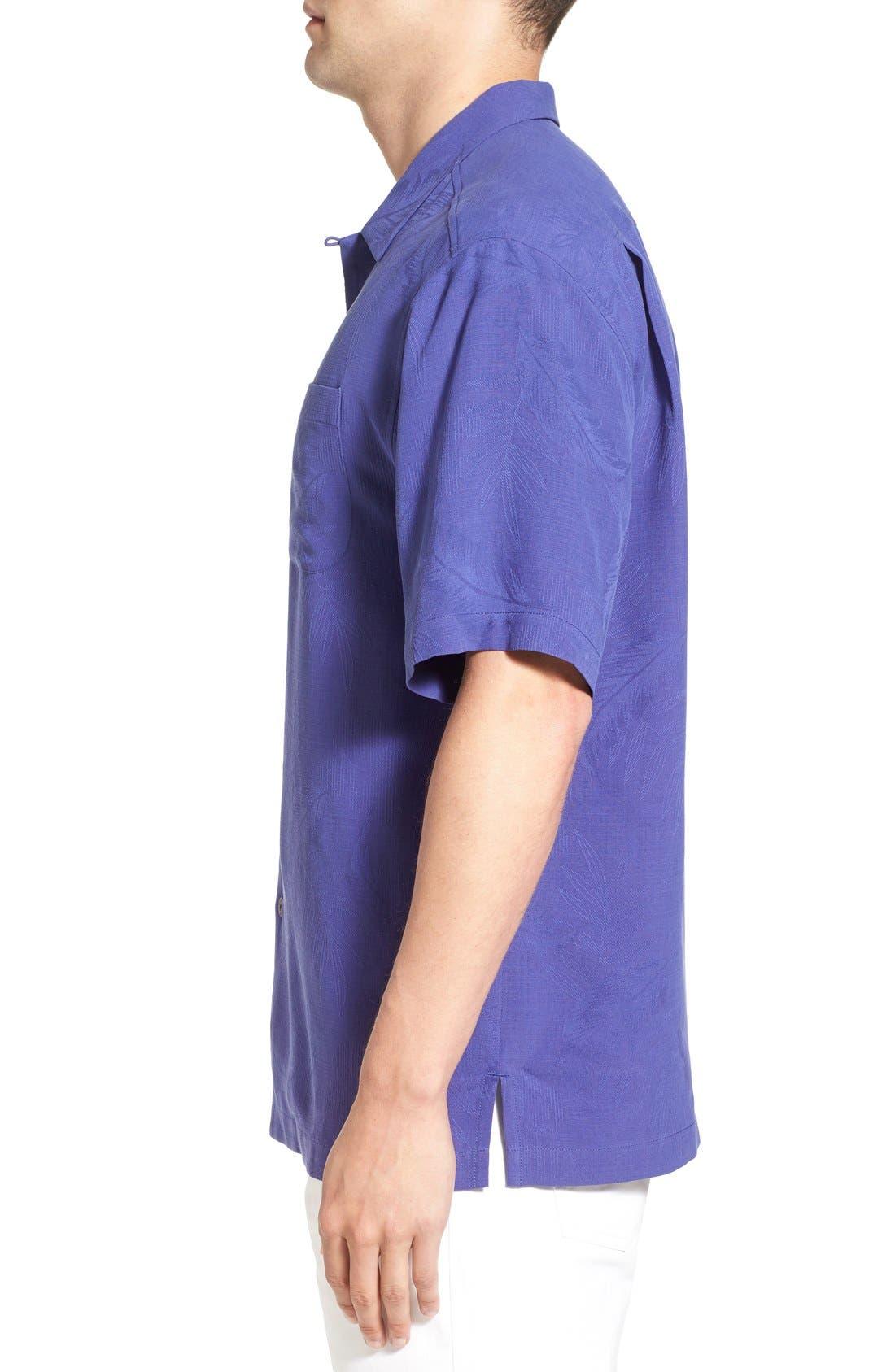 Rio Fronds Short Sleeve Silk Sport Shirt,                             Alternate thumbnail 44, color,