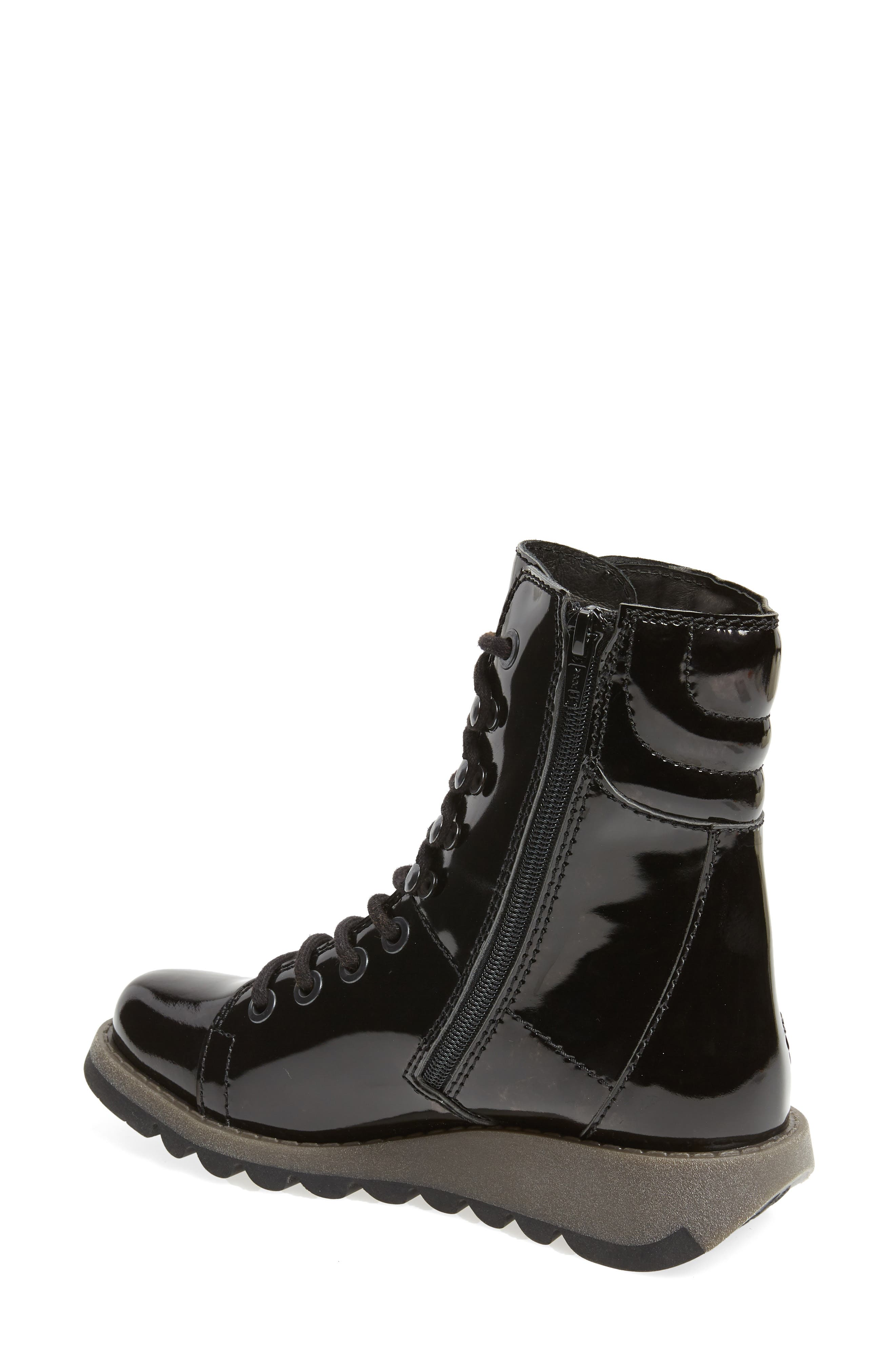 Same Lace-Up Boot,                             Alternate thumbnail 2, color,                             BLACK