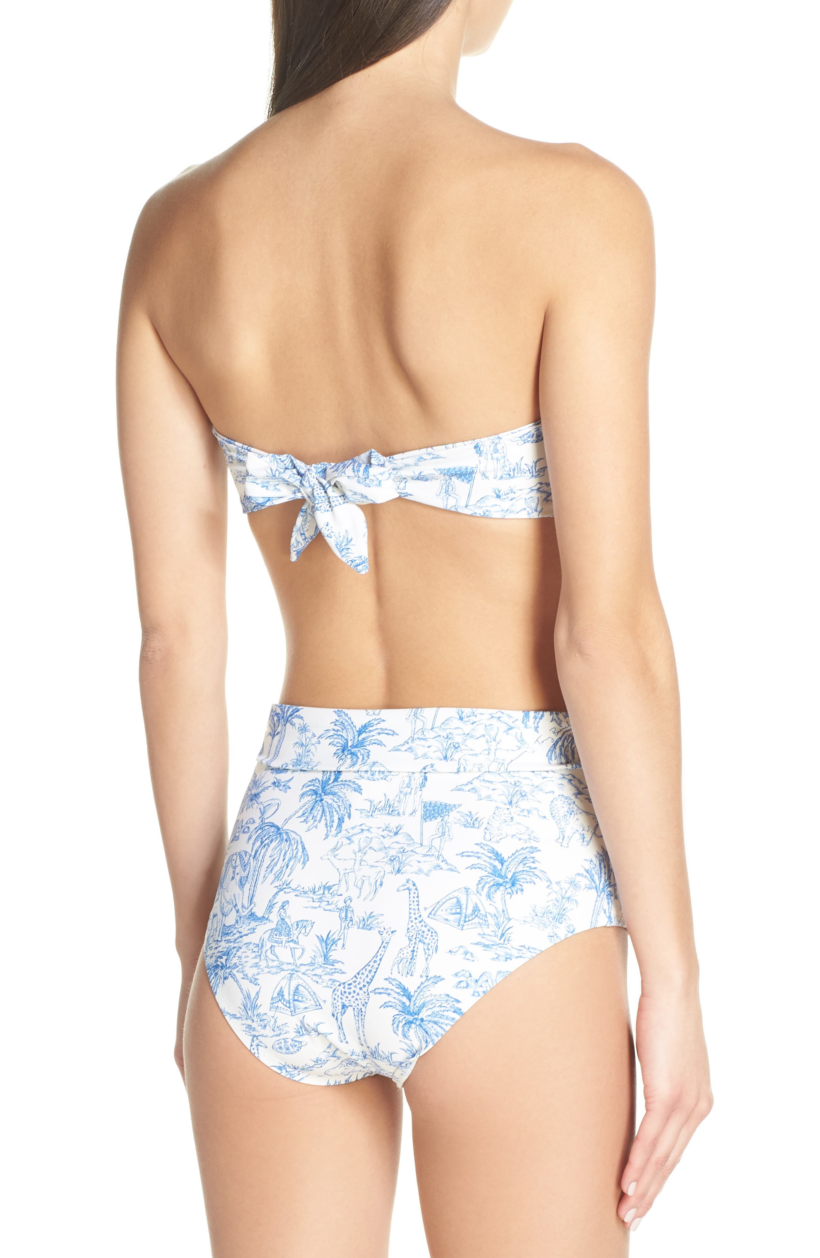 TORY BURCH,                             Sash Tie High Waist Bikini Bottoms,                             Alternate thumbnail 8, color,                             IVORY FAR AND AWAY