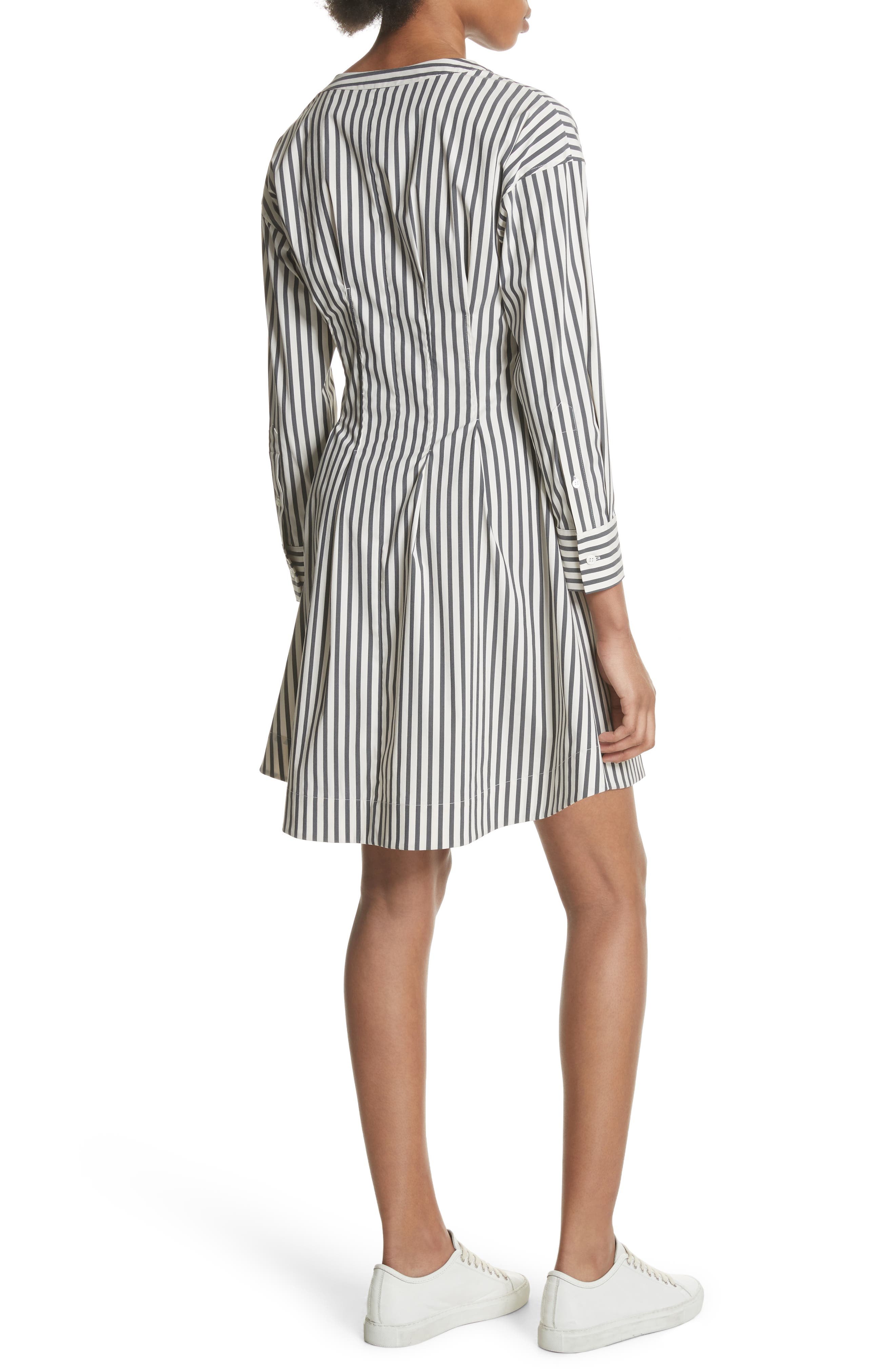 Stripe Shirtdress,                             Alternate thumbnail 2, color,