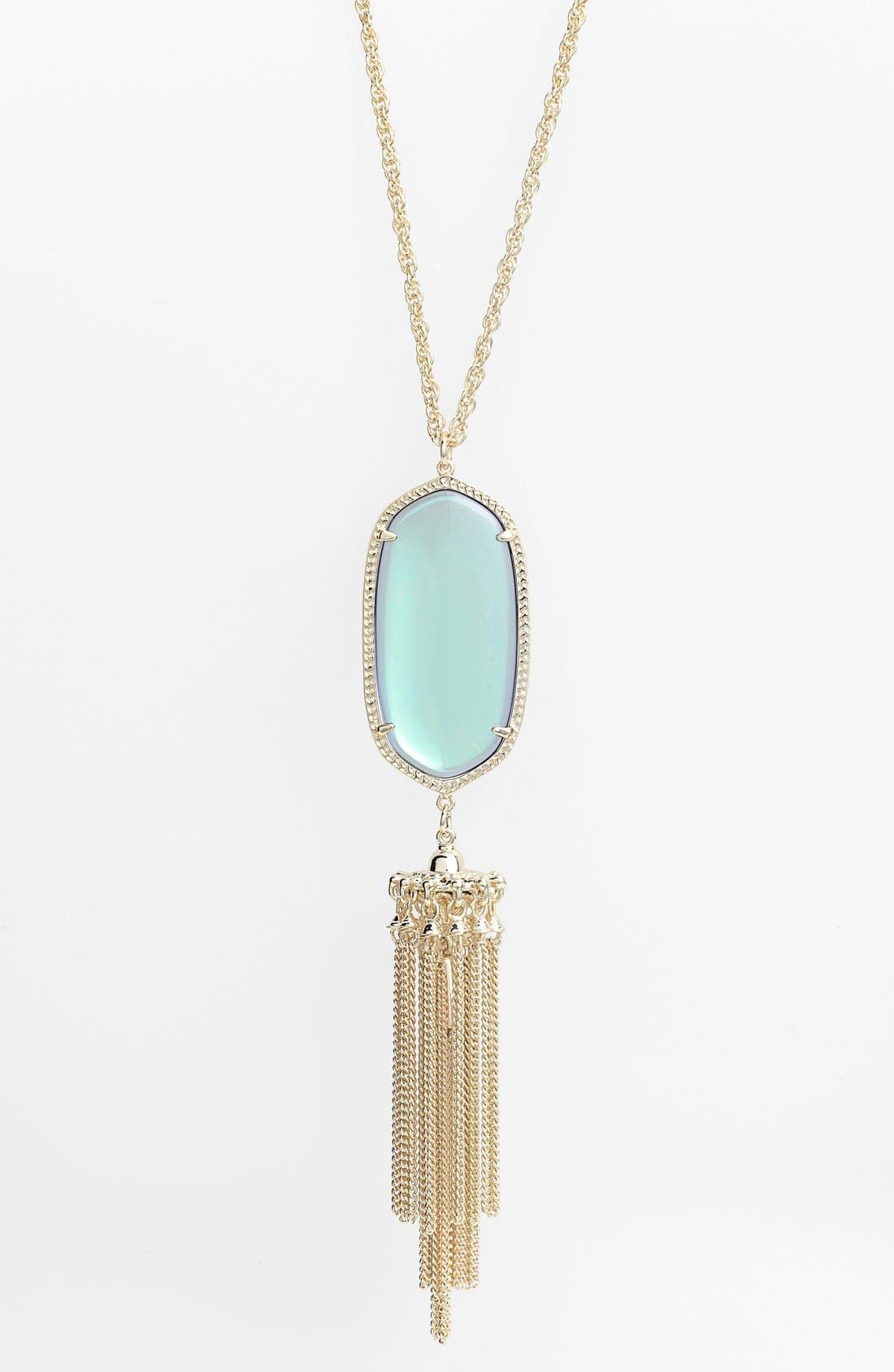 Rayne Stone Tassel Pendant Necklace,                             Alternate thumbnail 126, color,