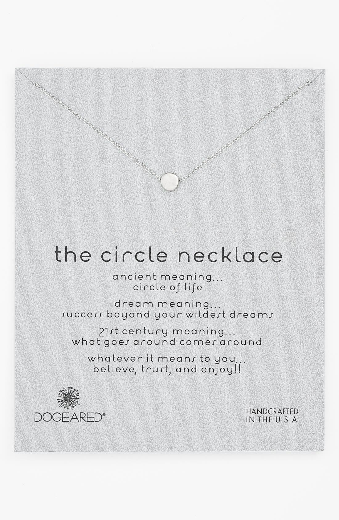 DOGEARED,                             'Reminder - The Circle' Pendant Necklace,                             Main thumbnail 1, color,                             040