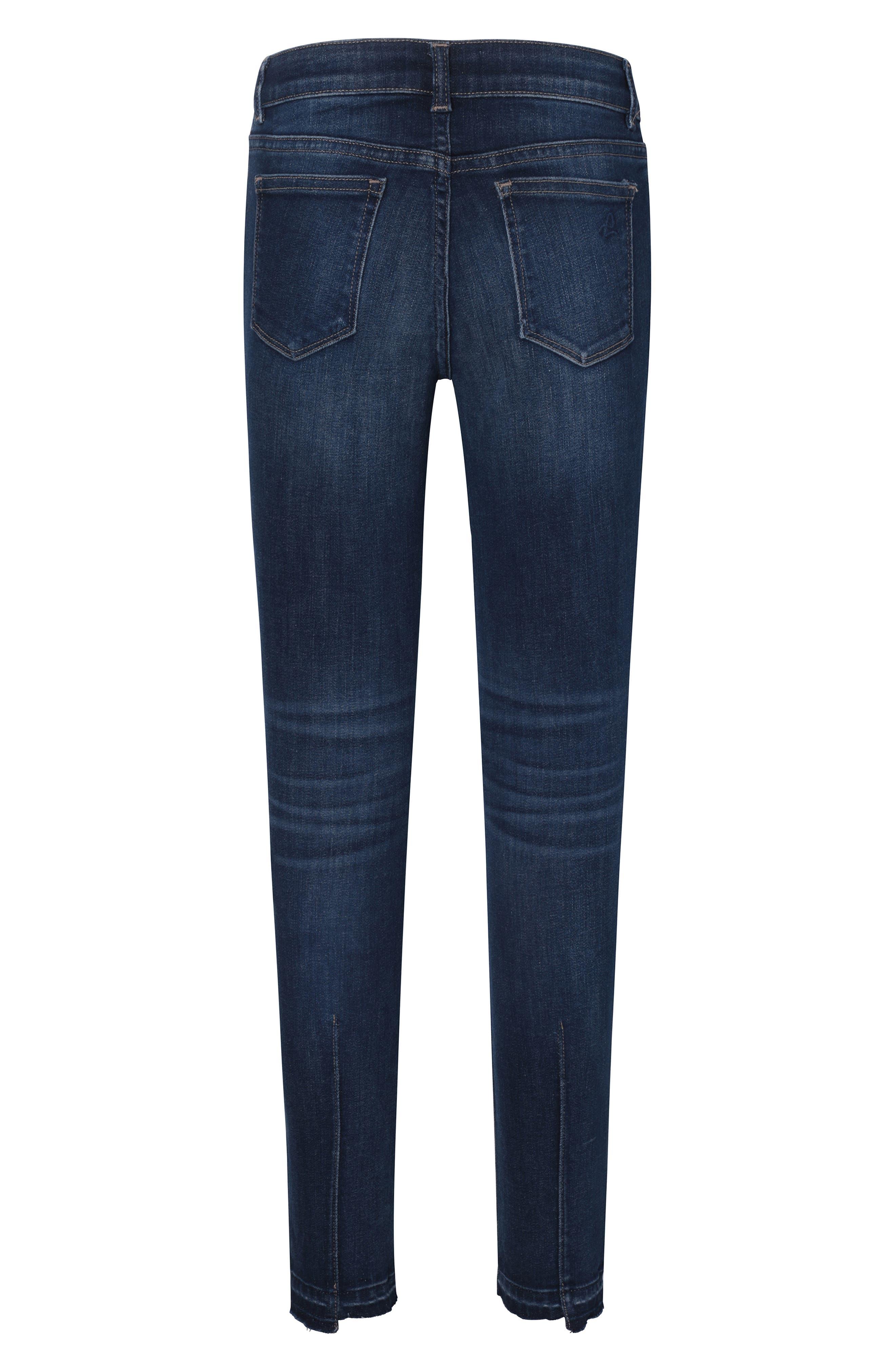Chloe Step Hem Stretch Denim Skinny Jeans,                             Alternate thumbnail 2, color,                             LIMELIGHT