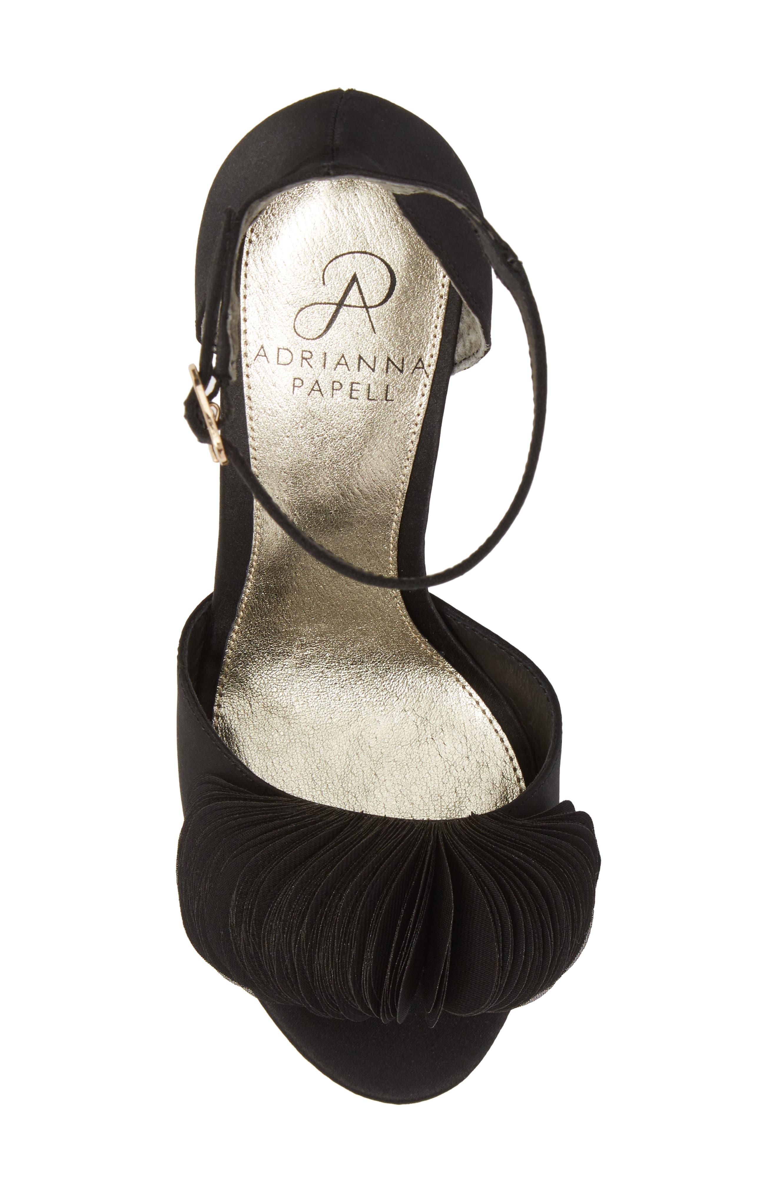 Gracie Ankle Strap Sandal,                             Alternate thumbnail 5, color,                             BLACK FABRIC