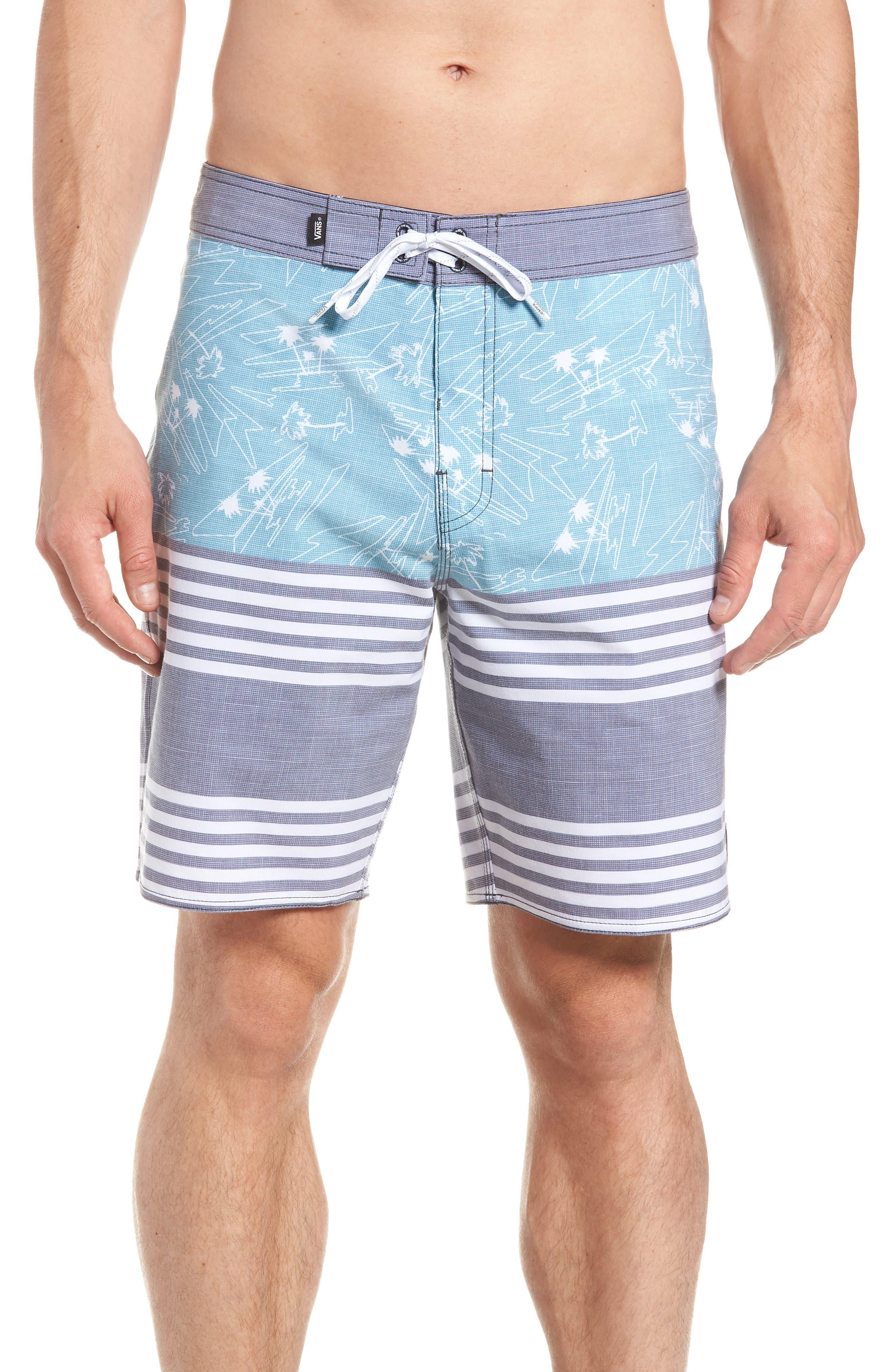 Era Board Shorts,                         Main,                         color, DRESS BLUES ISLAND BEACH