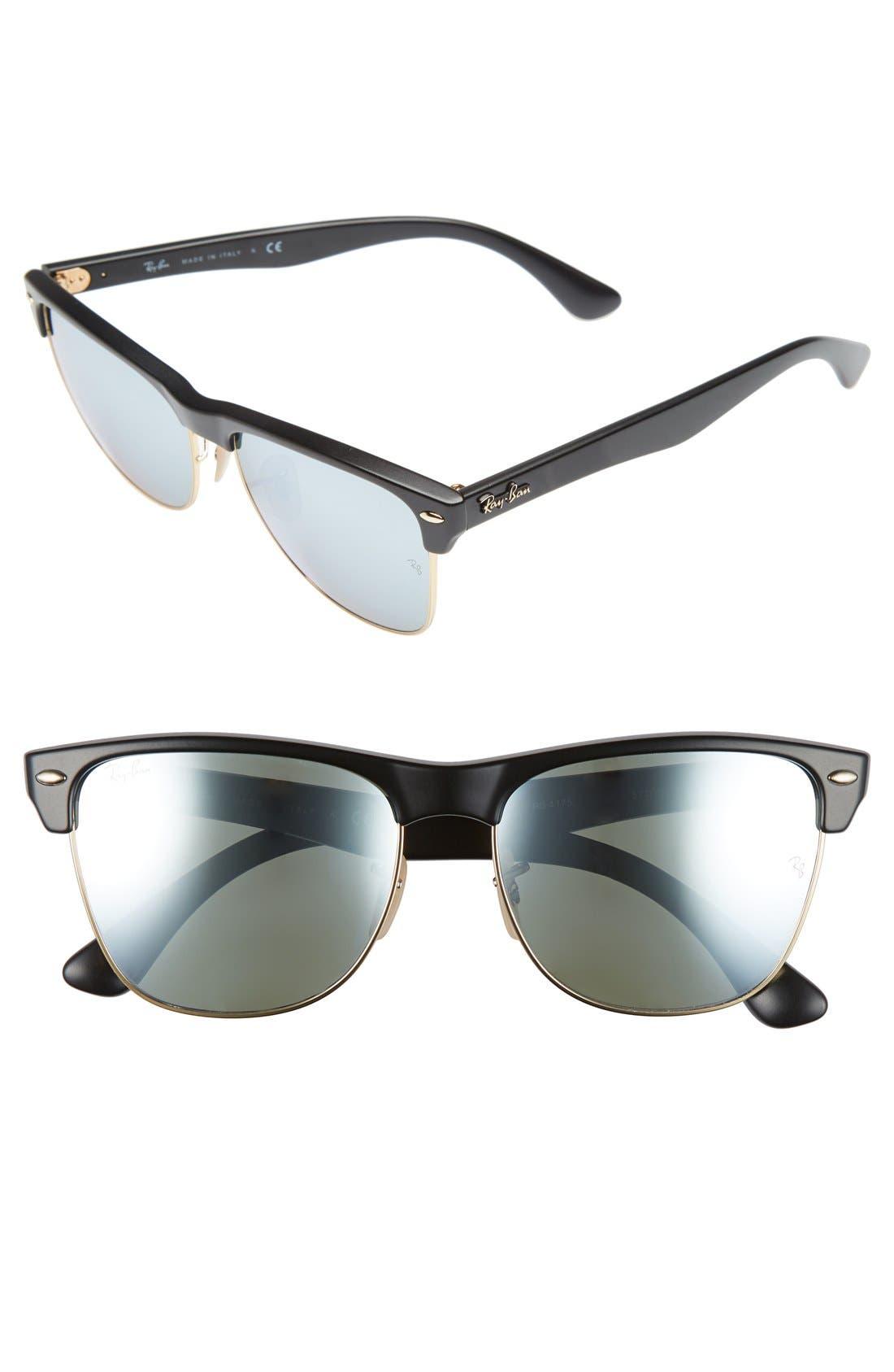 'Highstreet' 57mm Sunglasses,                             Main thumbnail 1, color,                             LIGHT GOLD