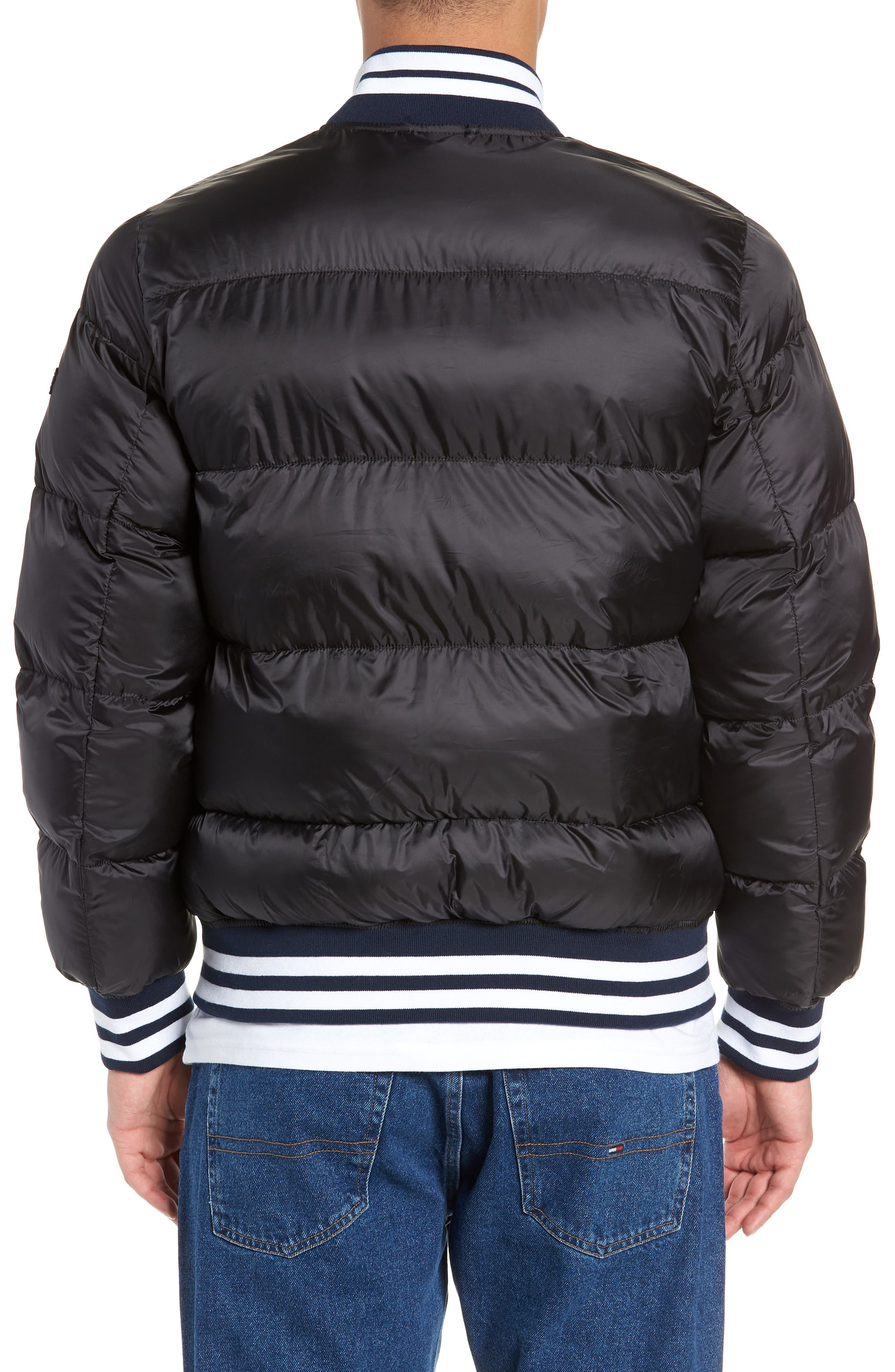 Varsity Jacket,                             Alternate thumbnail 2, color,                             TOMMY BLACK
