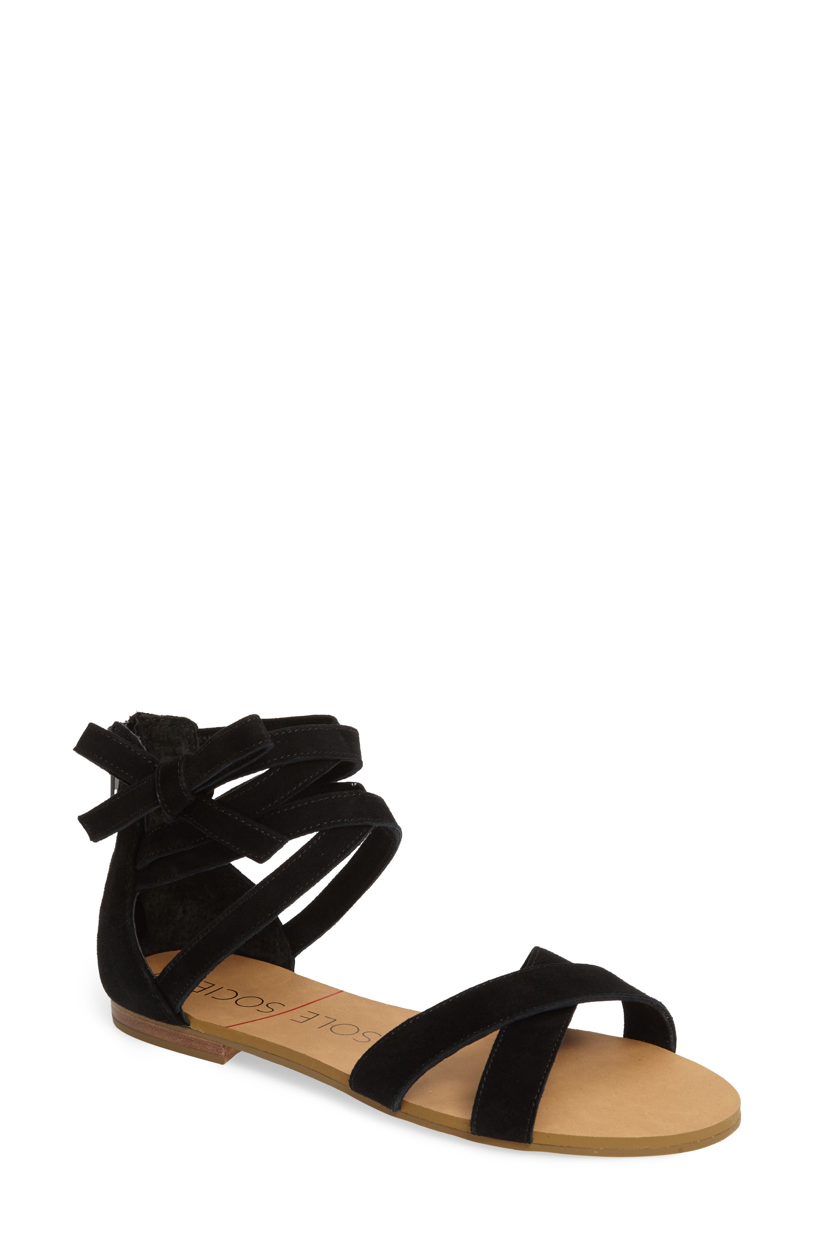 Sana Wraparound Sandal,                         Main,                         color, 003
