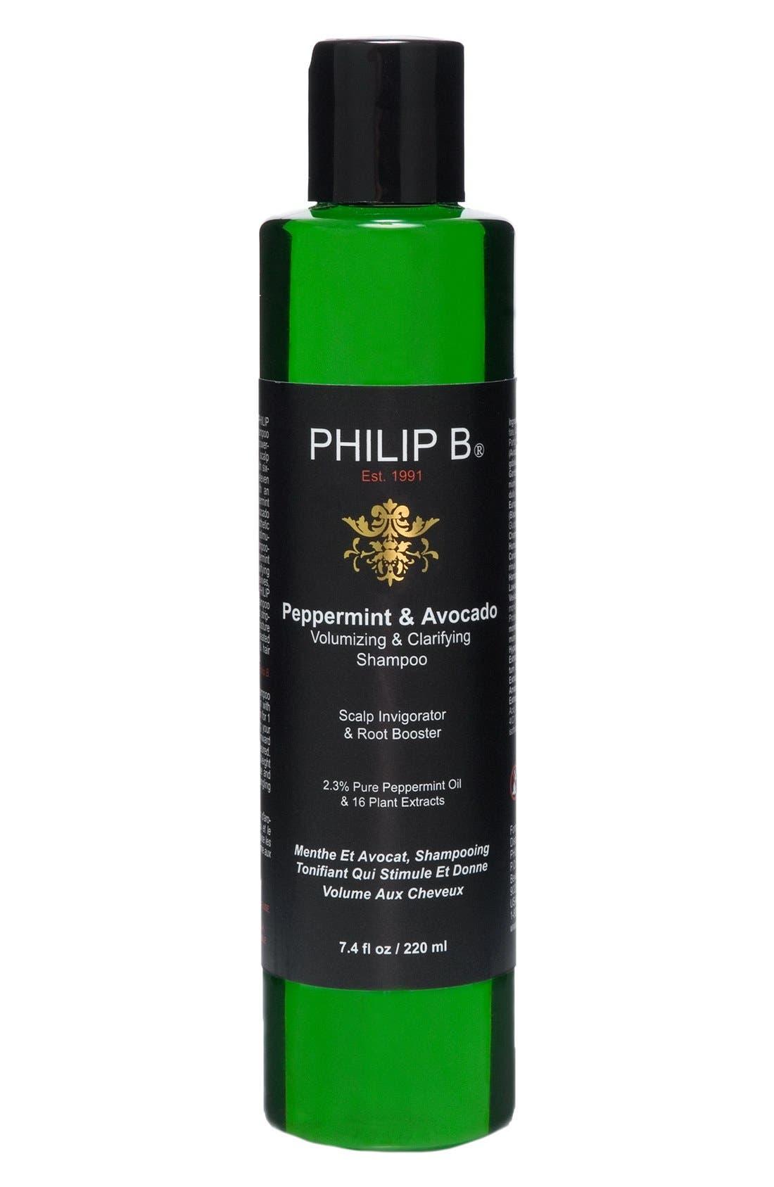 SPACE.NK.apothecary PHILIP B<sup>®</sup> Peppermint & Avocado Volumizing & Clarifying Shampoo,                         Main,                         color, 000