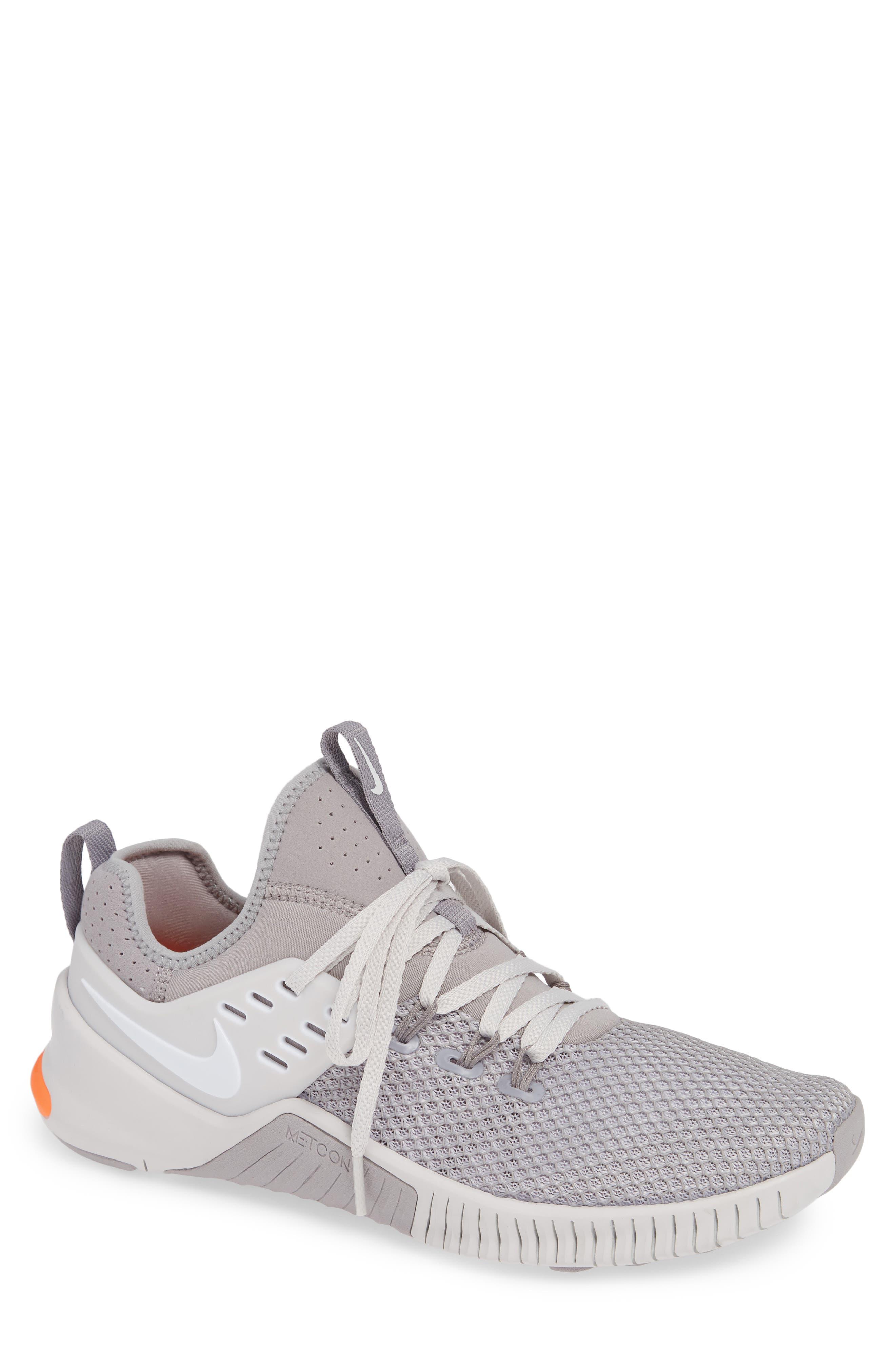Free x Metcon Training Shoe,                             Main thumbnail 1, color,                             GREY/ WHITE/ CRIMSON