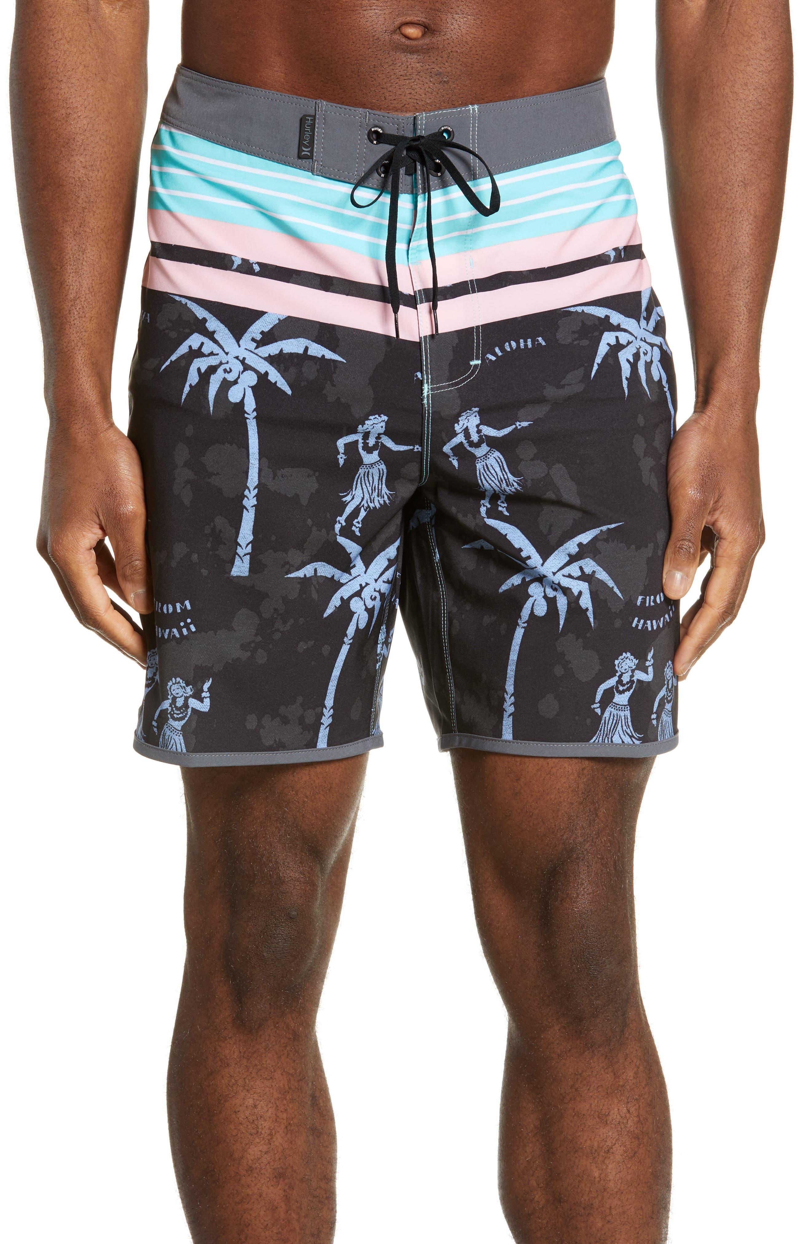 Hurley Phantom Aloha Twist Board Shorts, Black