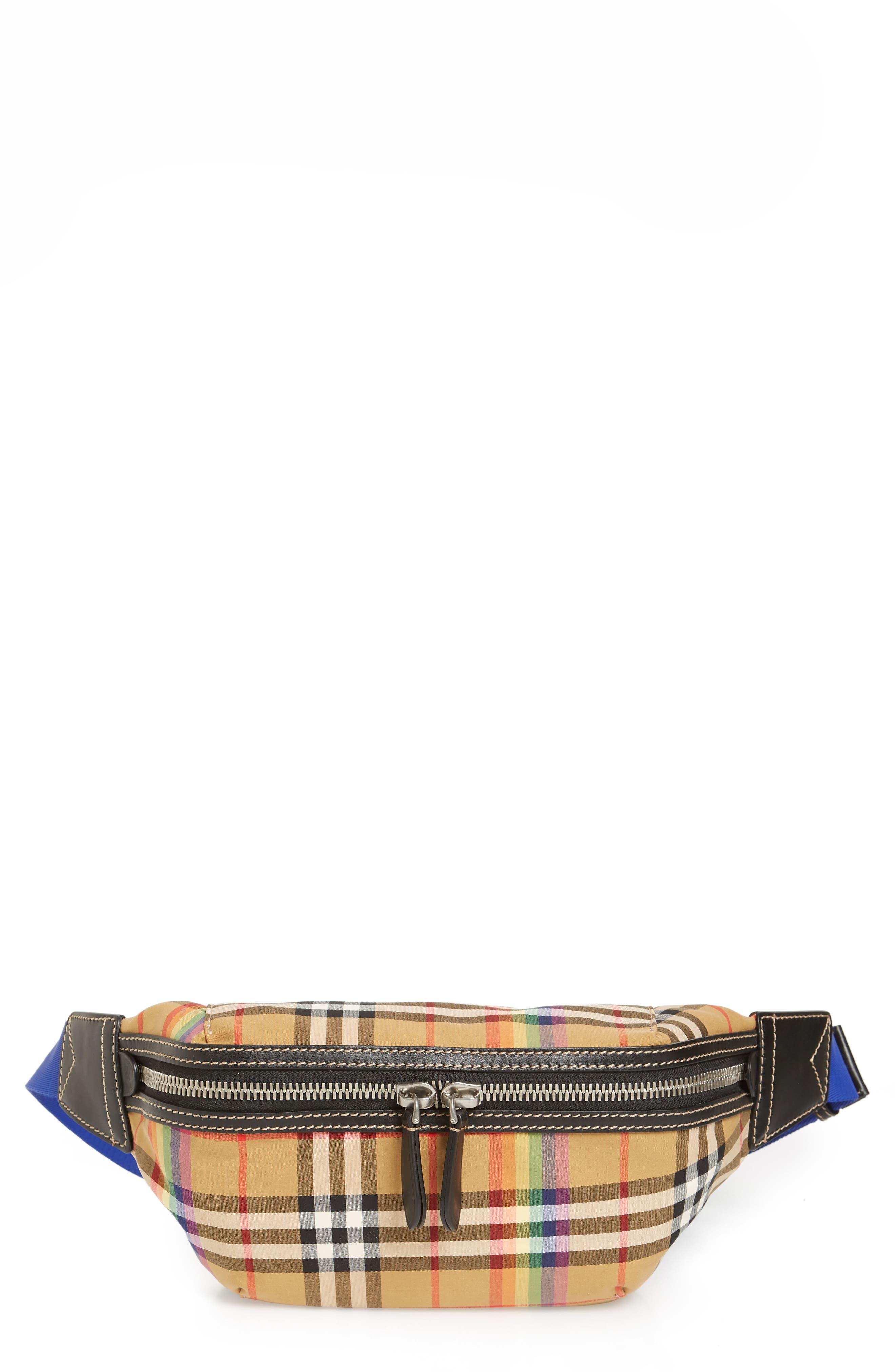 Medium Sonny Vintage Check Bum Bag,                             Main thumbnail 1, color,                             250