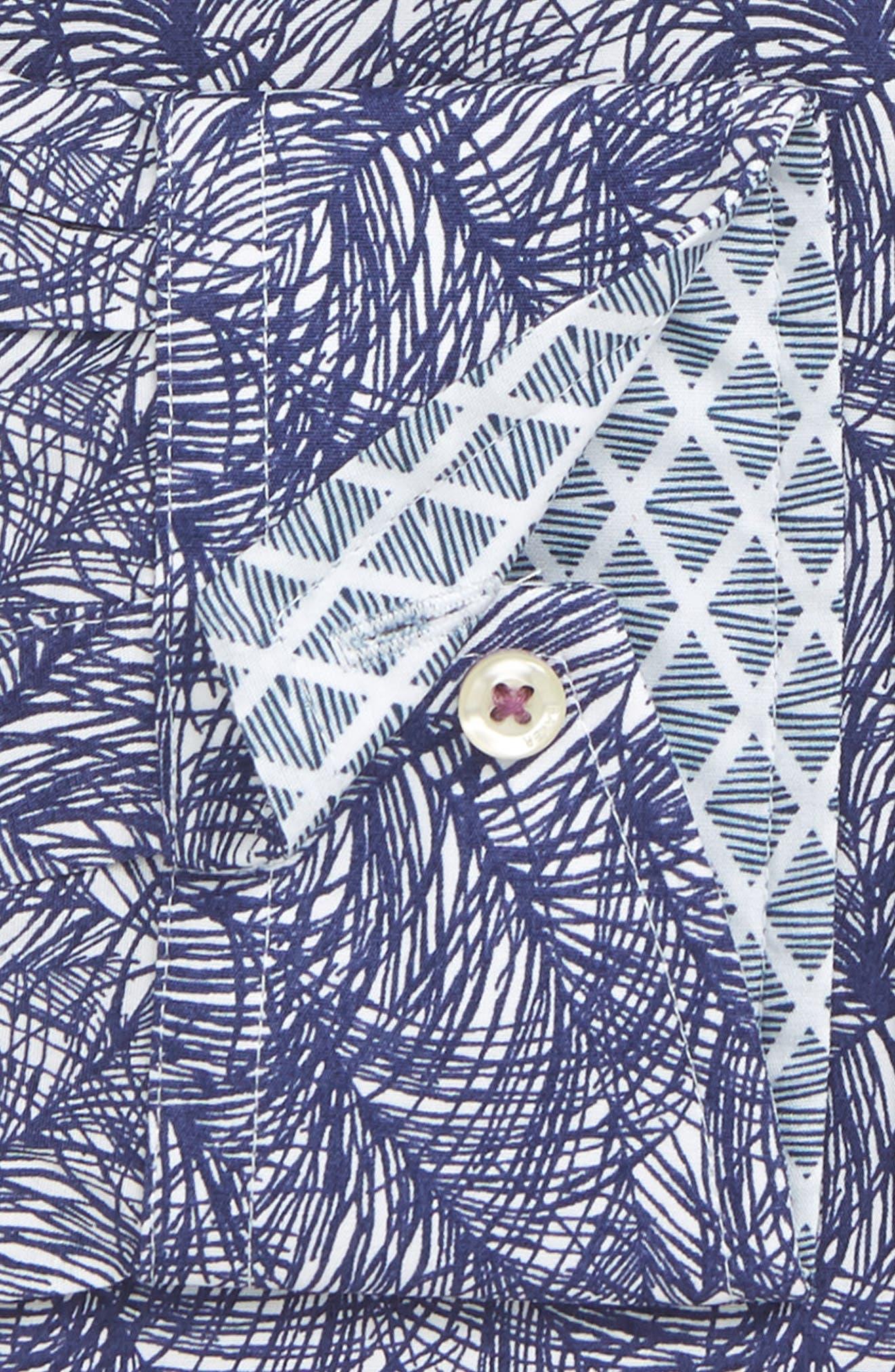 Messera Trim Fit Print Dress Shirt,                             Alternate thumbnail 2, color,                             410