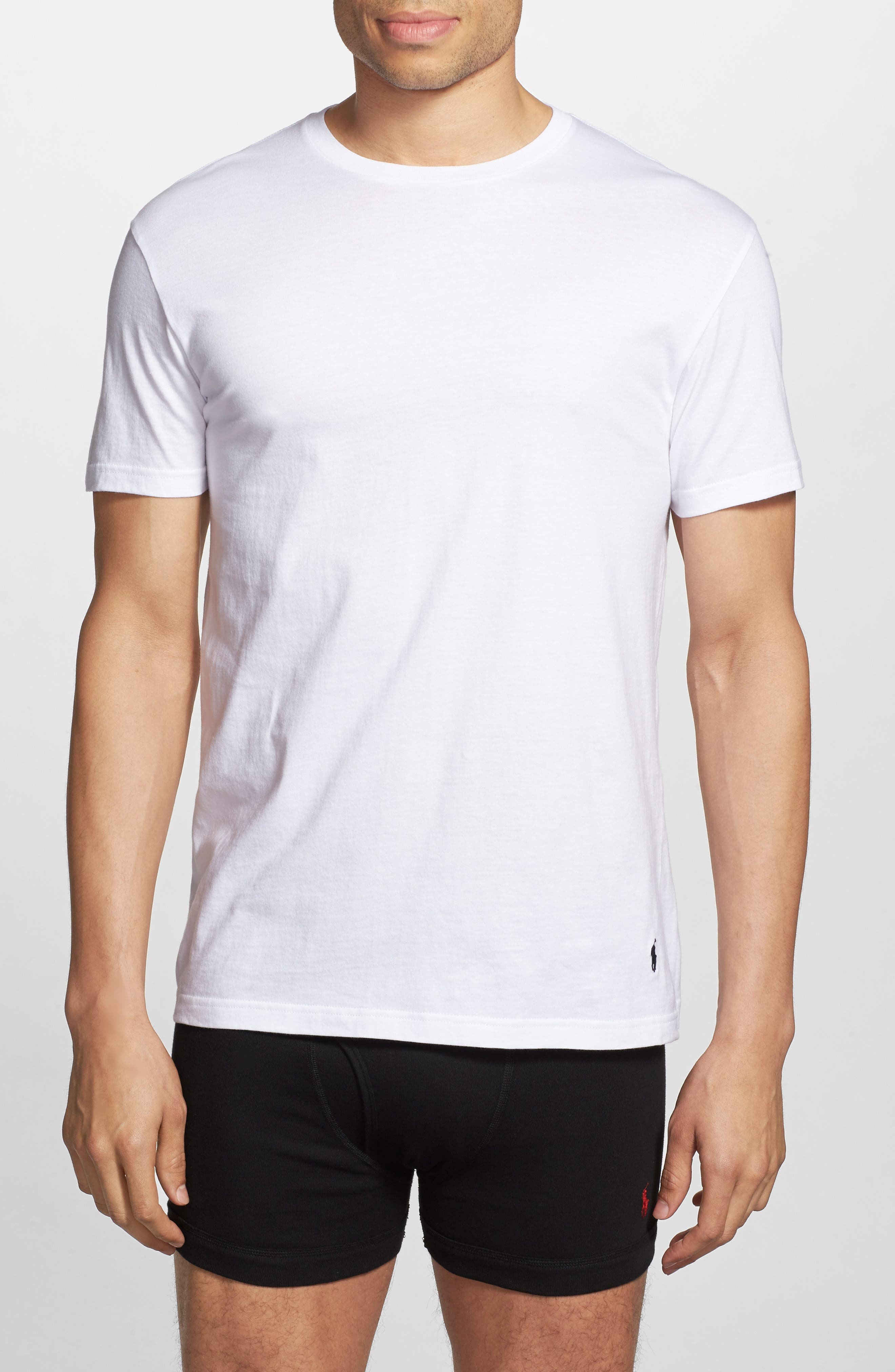 5-Pack Crewneck T-Shirt,                             Alternate thumbnail 4, color,