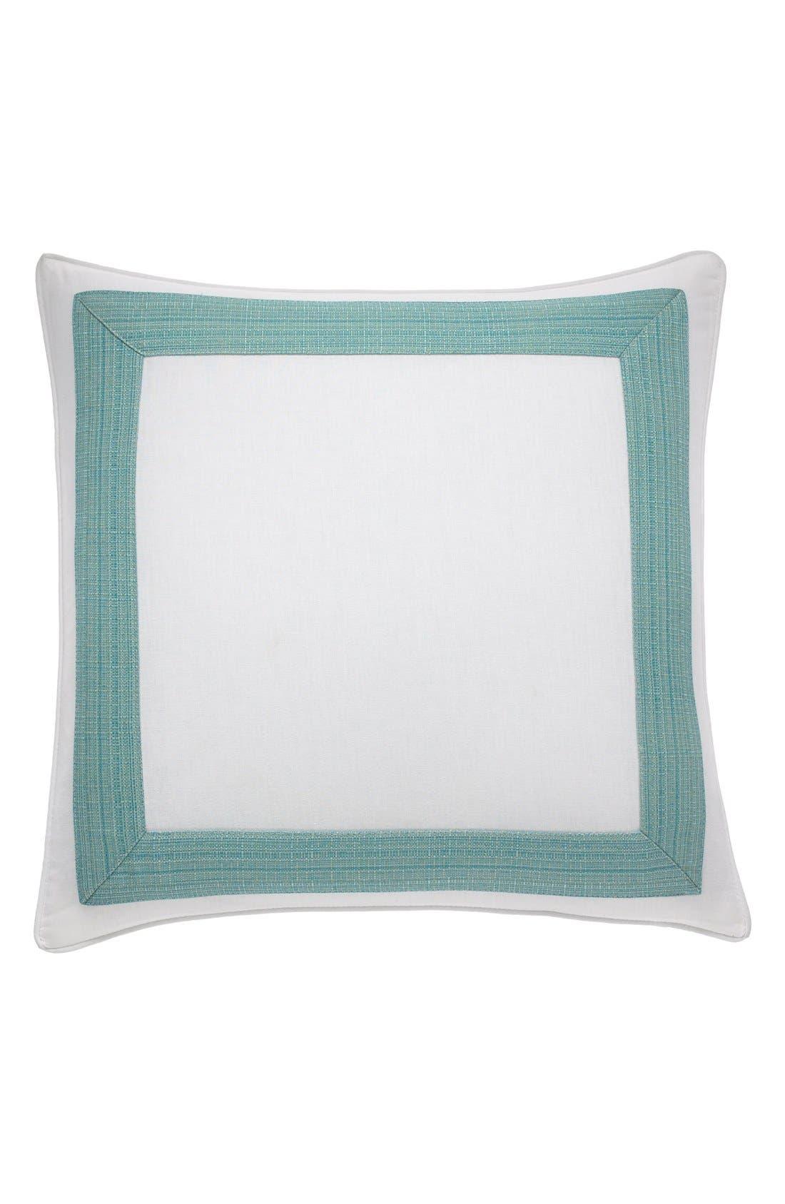 'Seaglass Border' Pillow,                             Main thumbnail 1, color,                             SEAGLASS