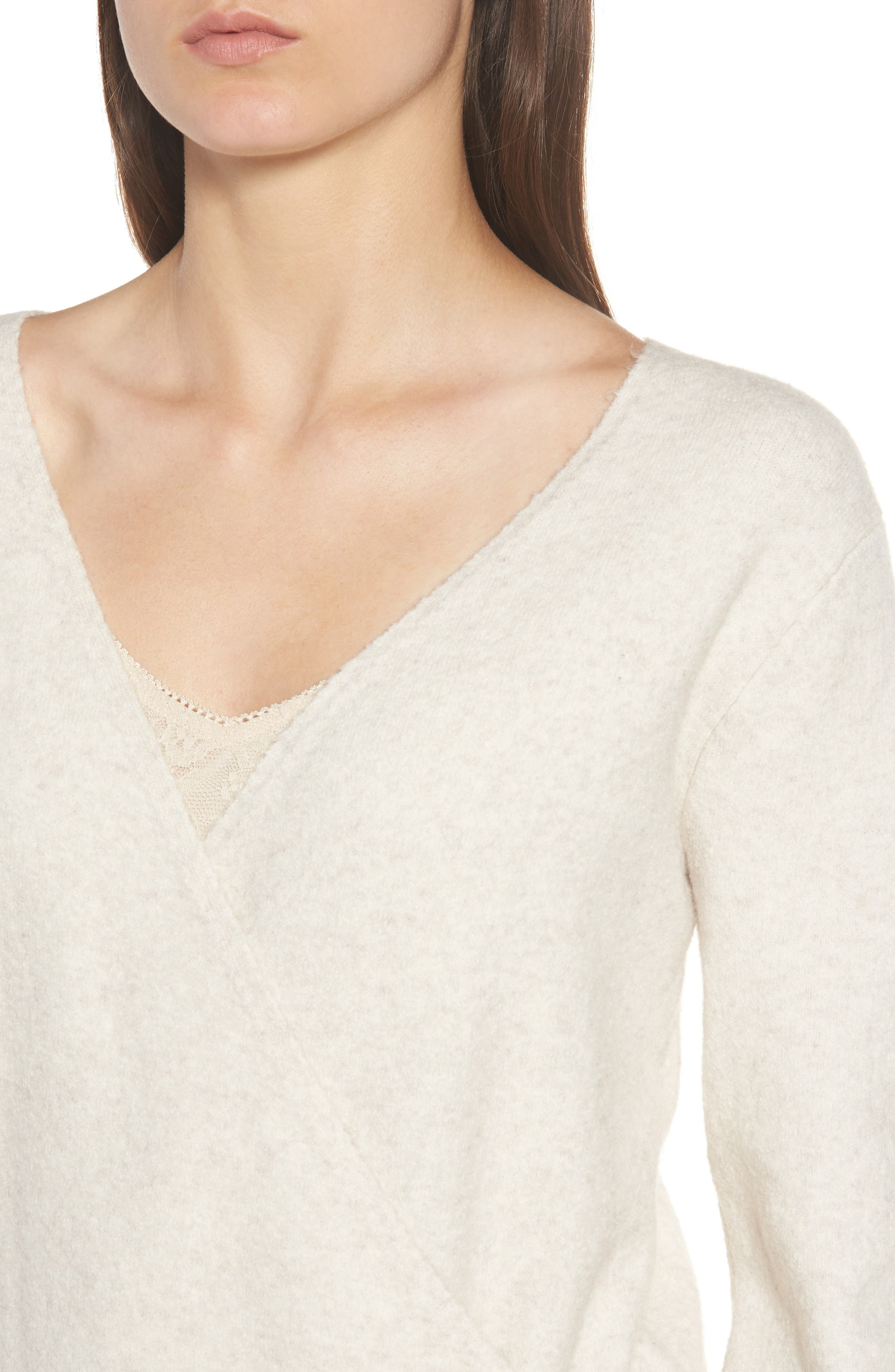 Faux Wrap Sweater,                             Alternate thumbnail 11, color,